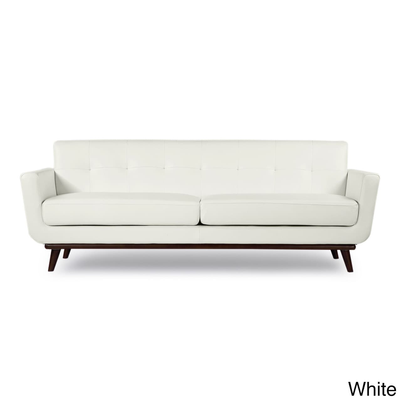 Lovely Shop Kardiel Jackie Mid Century Modern Aniline Leather Sofa   Free Shipping  Today   Overstock.com   12816195
