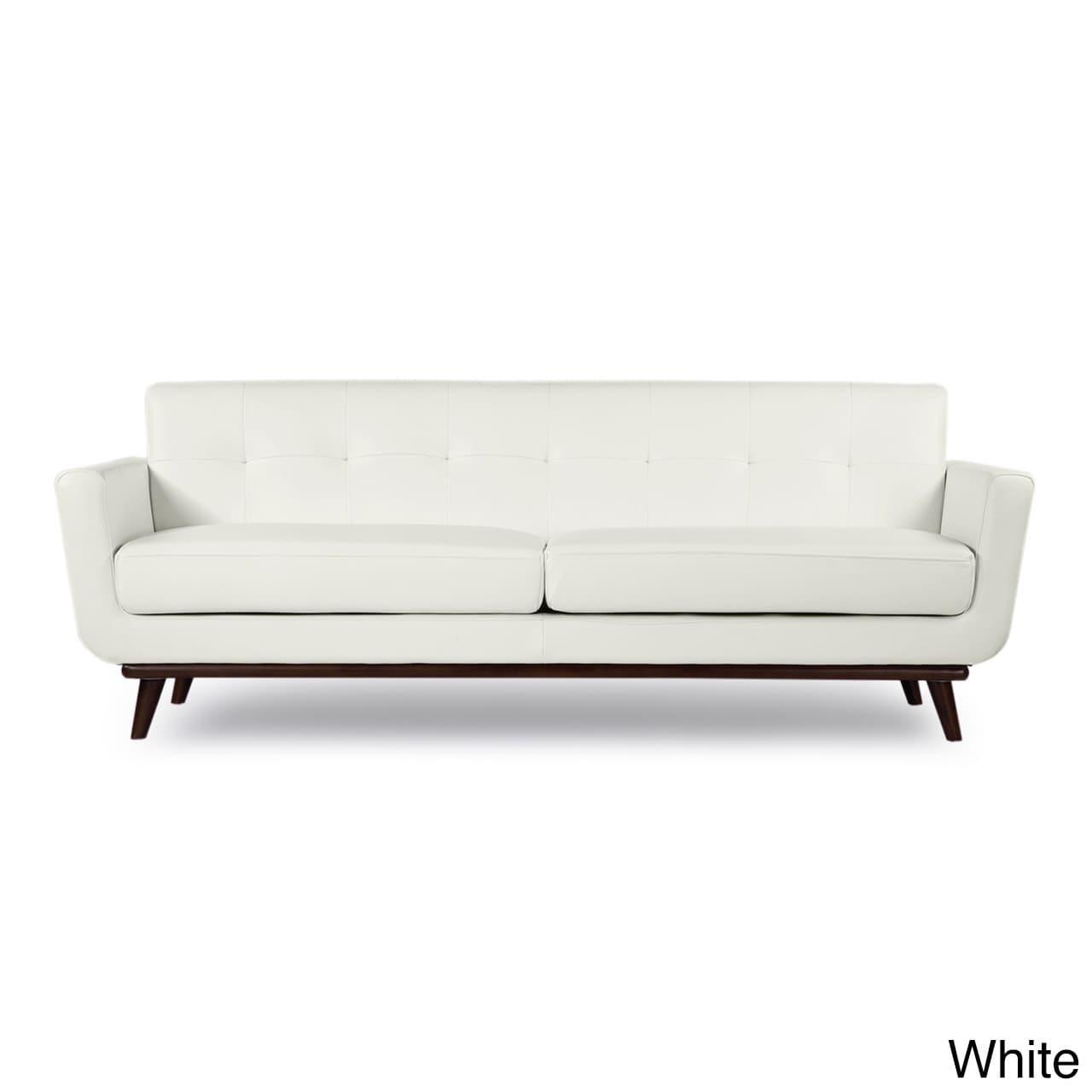 Shop Kardiel Jackie Mid-Century Modern Aniline Leather Sofa - Free ...