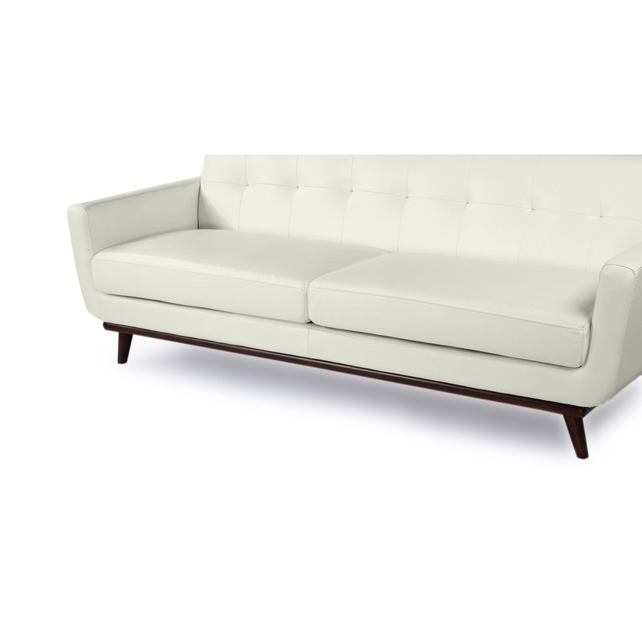 Karl Jackie Mid Century Modern Aniline Leather Sofa Free Shipping Today 12816195
