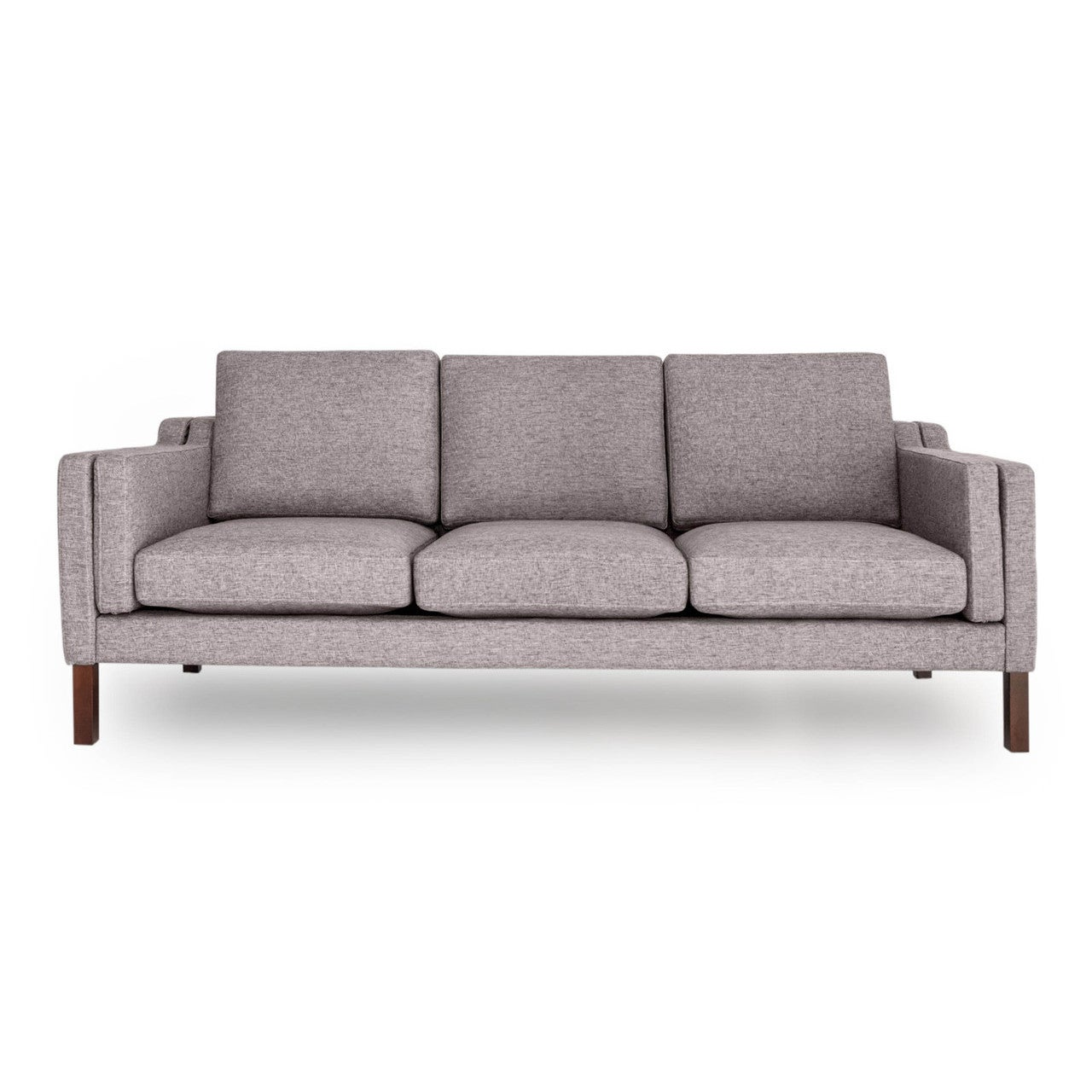Shop Kardiel Monroe Mid Century Modern Premium Fabric 3 Seat Sofa   Free  Shipping Today   Overstock.com   12816613