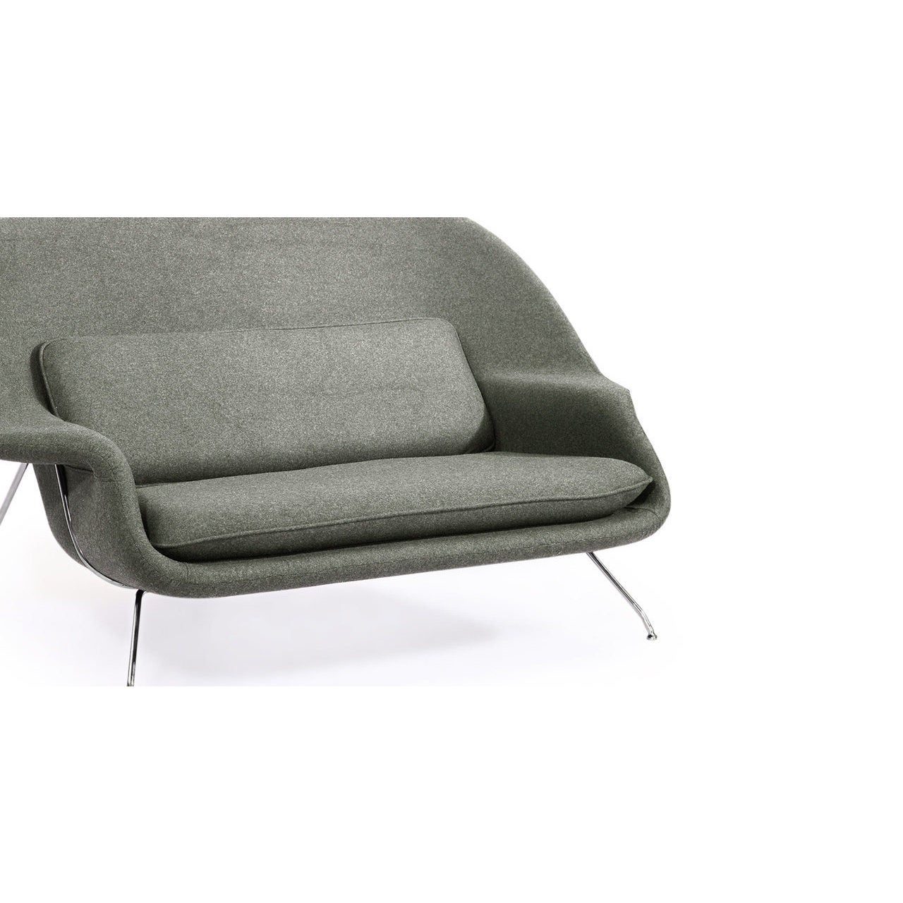Strick Bolton Calloway Mid Century Modern Cashmere Wool Loveseat Sofa Free Shipping Today 12816743