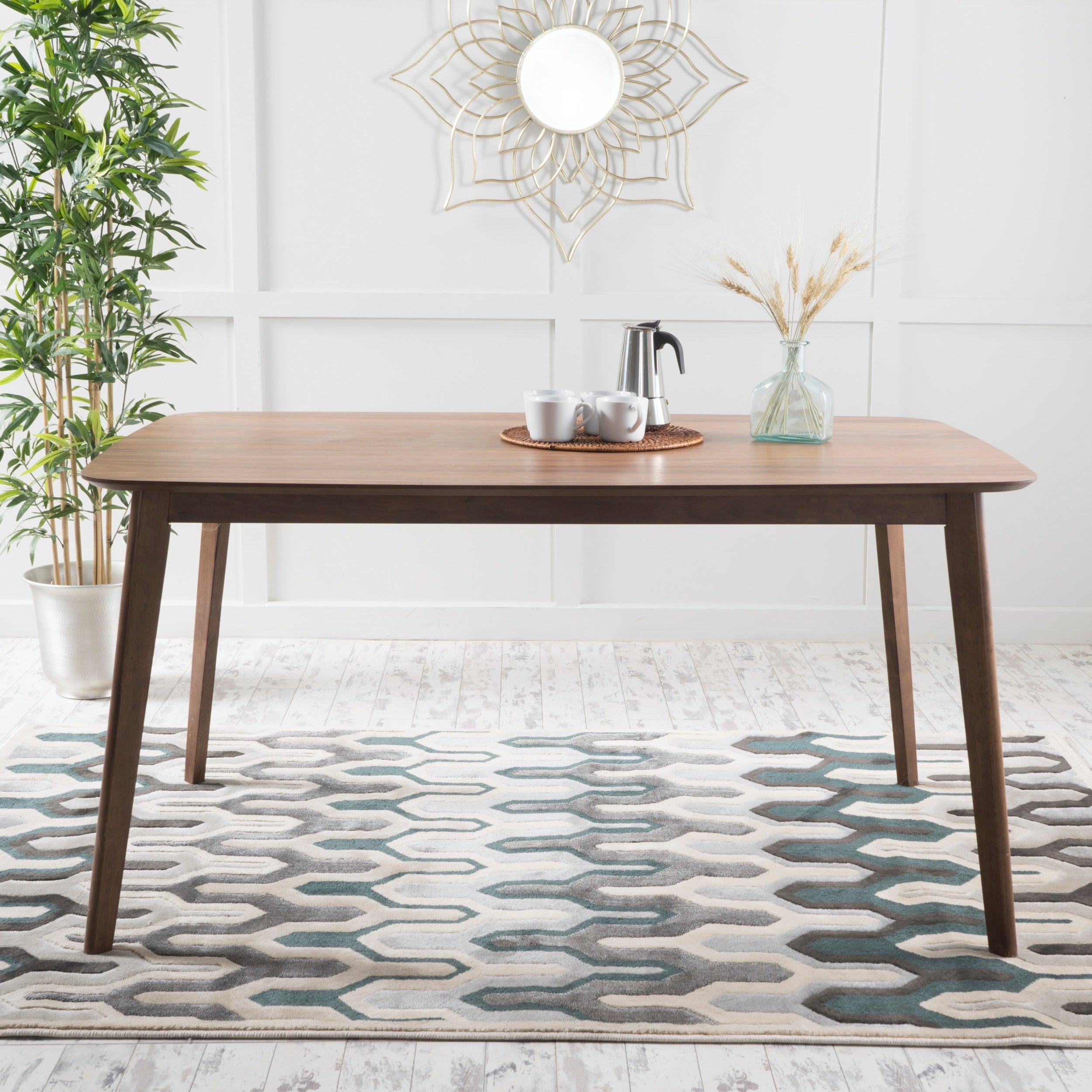 Shop nyala natural wood dining table by christopher knight home free shipping today overstock com 12816882