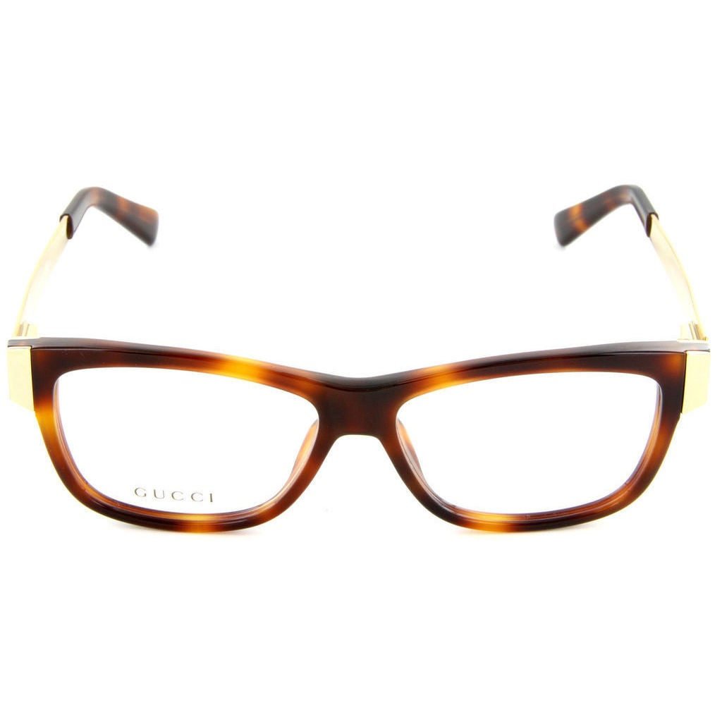 42c68b1370a Shop Gucci 3719 0CRX Womens Rectangular Eyeglasses - Brown - Free Shipping  Today - Overstock - 12817711