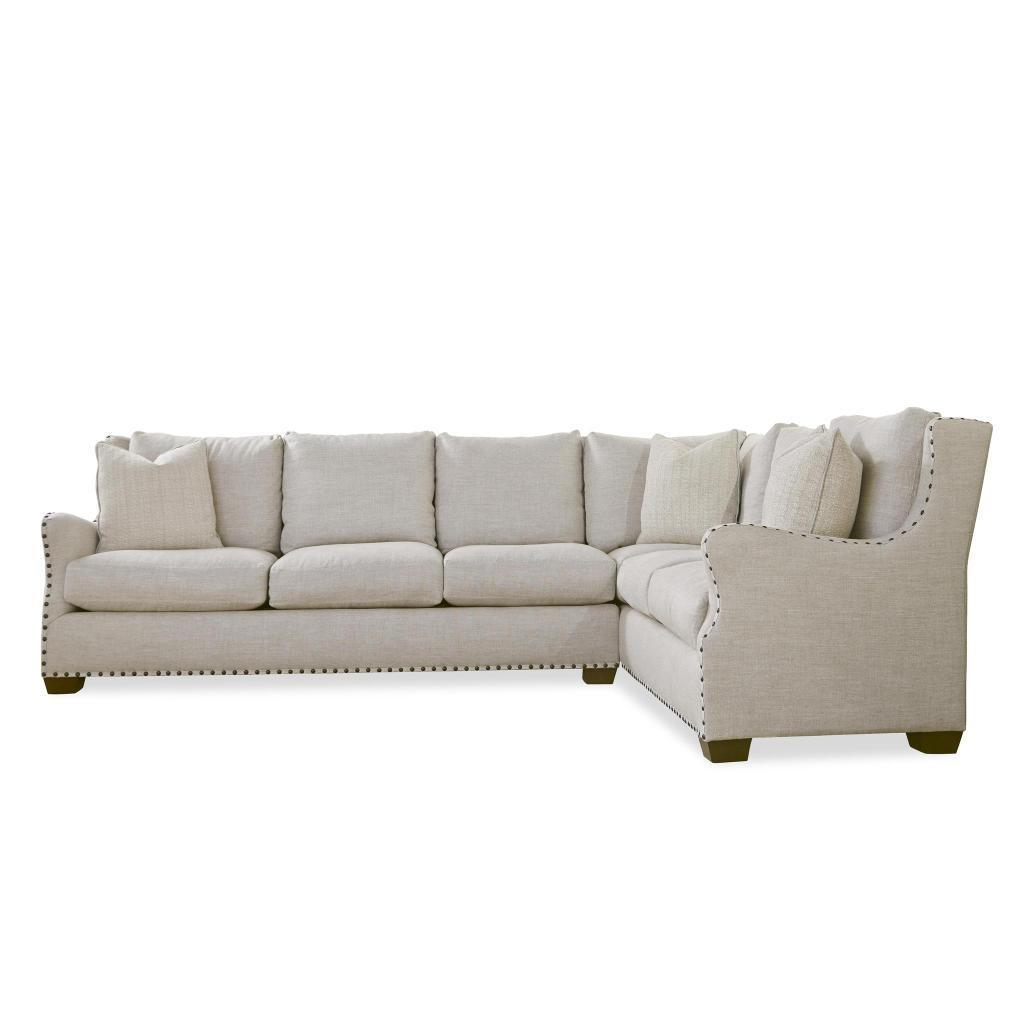 Connor Curved Back Belgian Linen Sectional Sofa With Ultra Plush Down  Blended Cushions   Free Shipping Today   Overstock.com   19586225