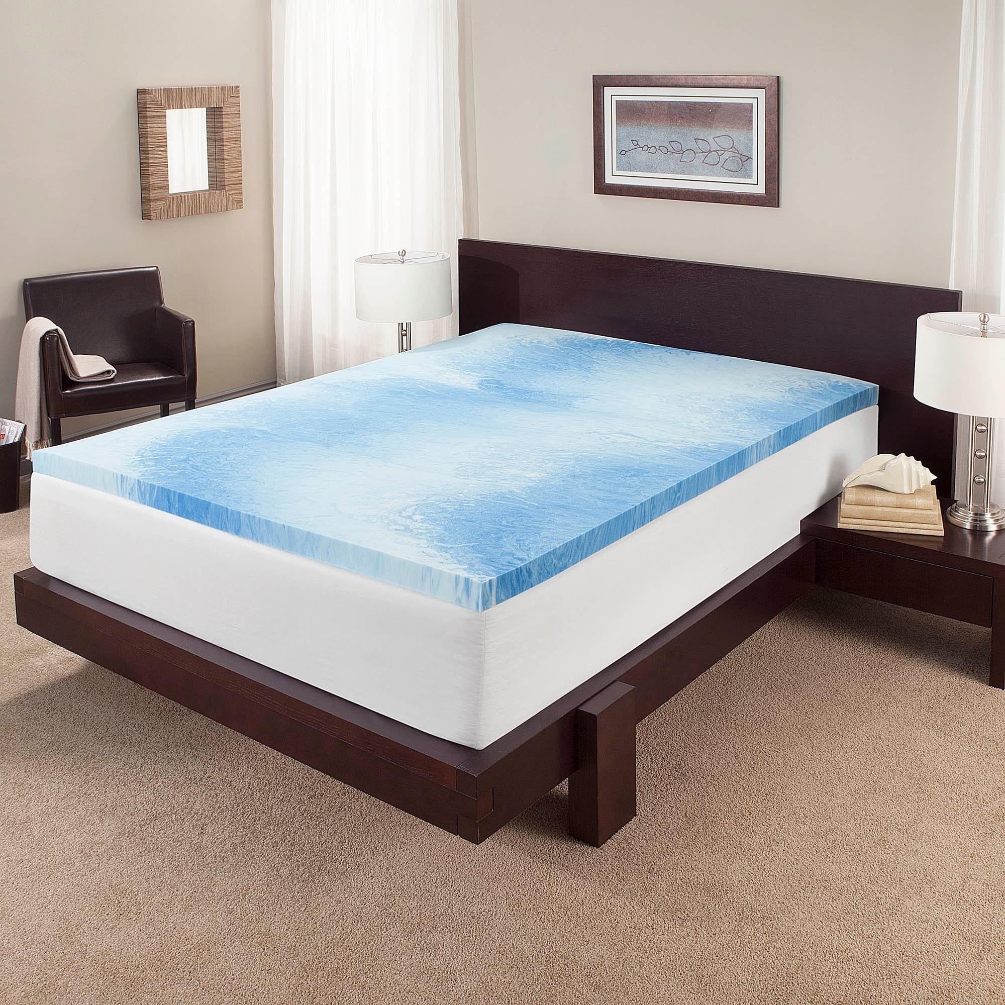 mattress inch topper gel bedding pin independent memory foam