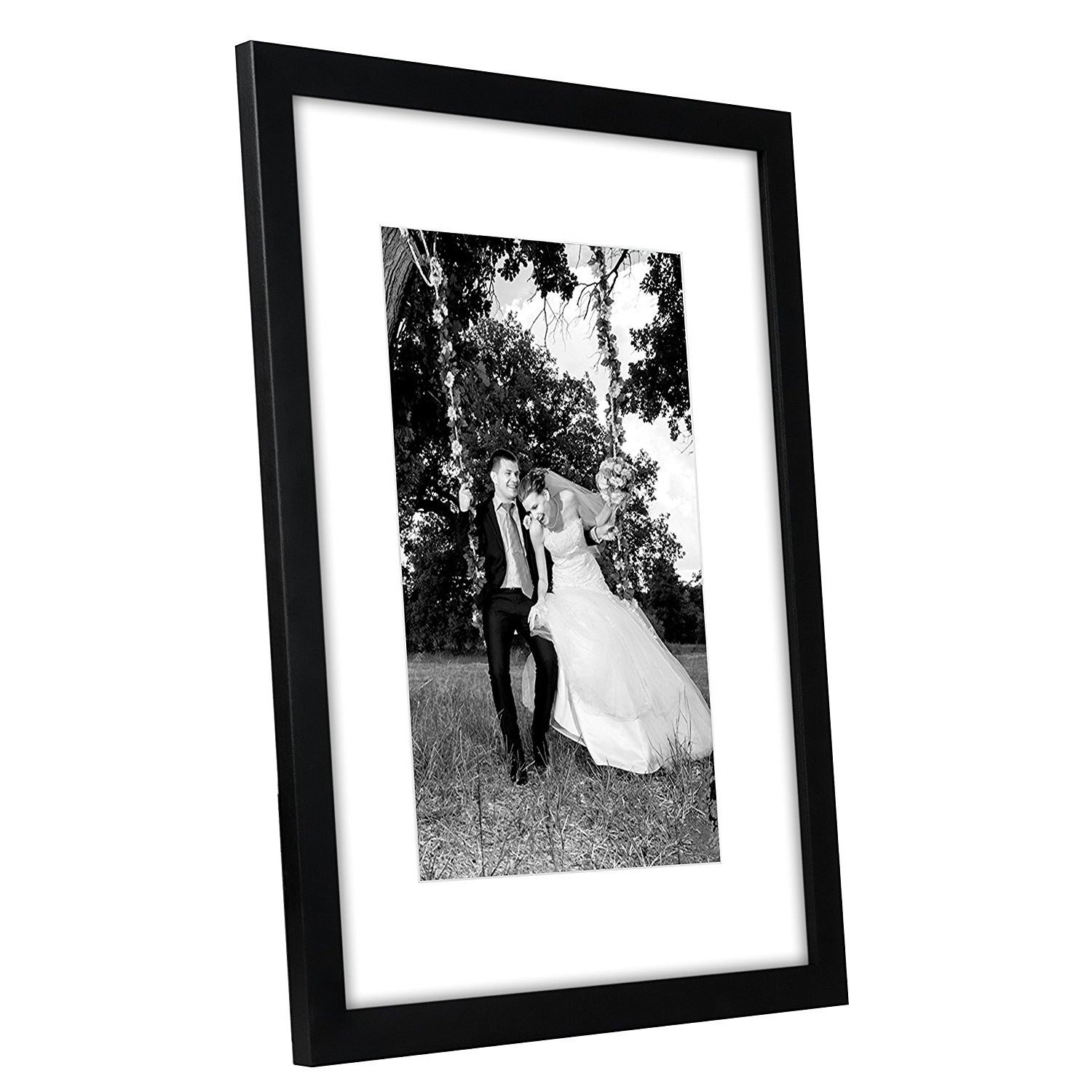 Shop 12 X 16 Inch Black Frame With Glass Front And Hanging Hardware
