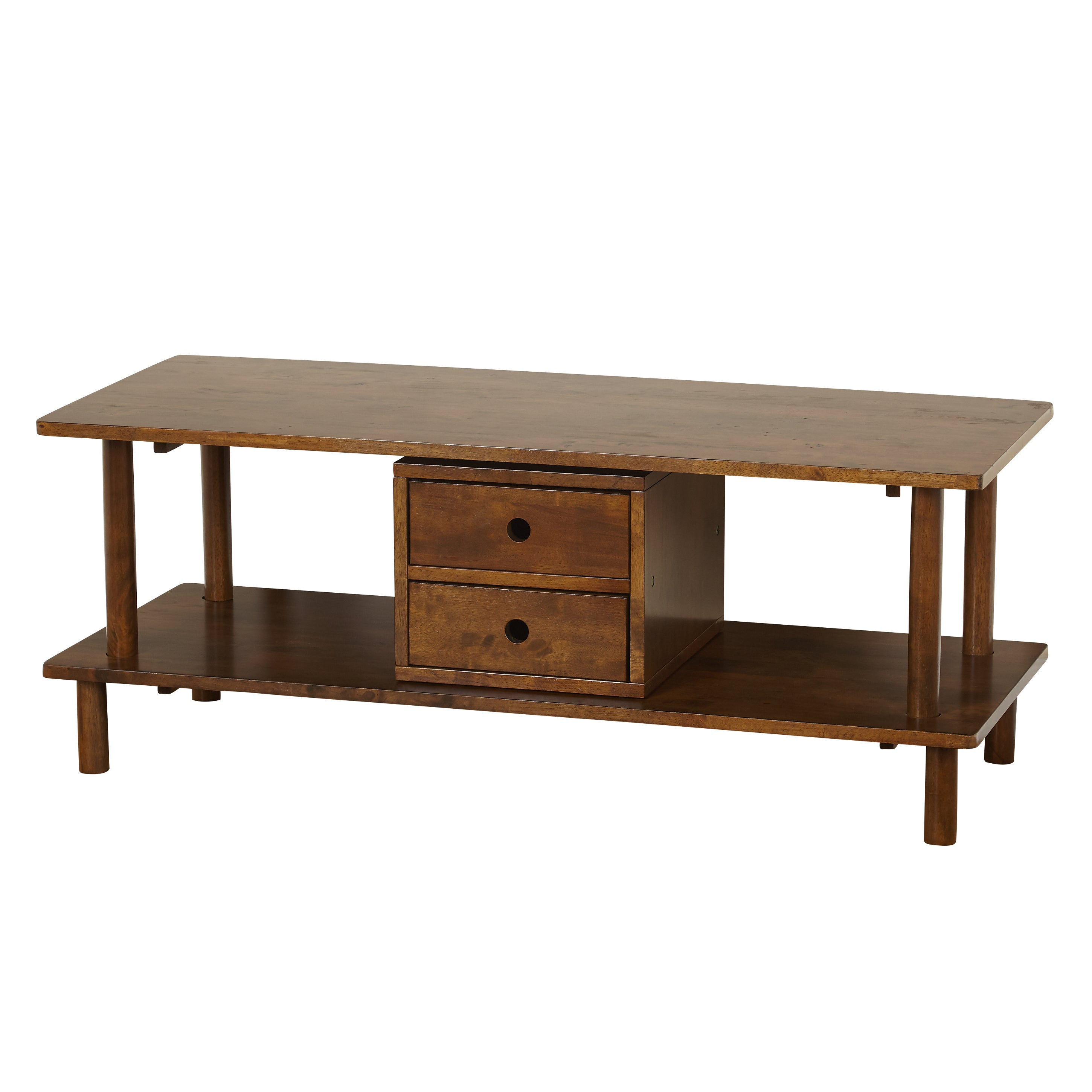 Simple Living Double Decker Storage Tv Stand Coffee Table Free  # Table Tv Simple