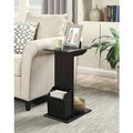 Convenience Concepts Designs2Go Abby Magazine Black and Mahogany Wood C-end Table