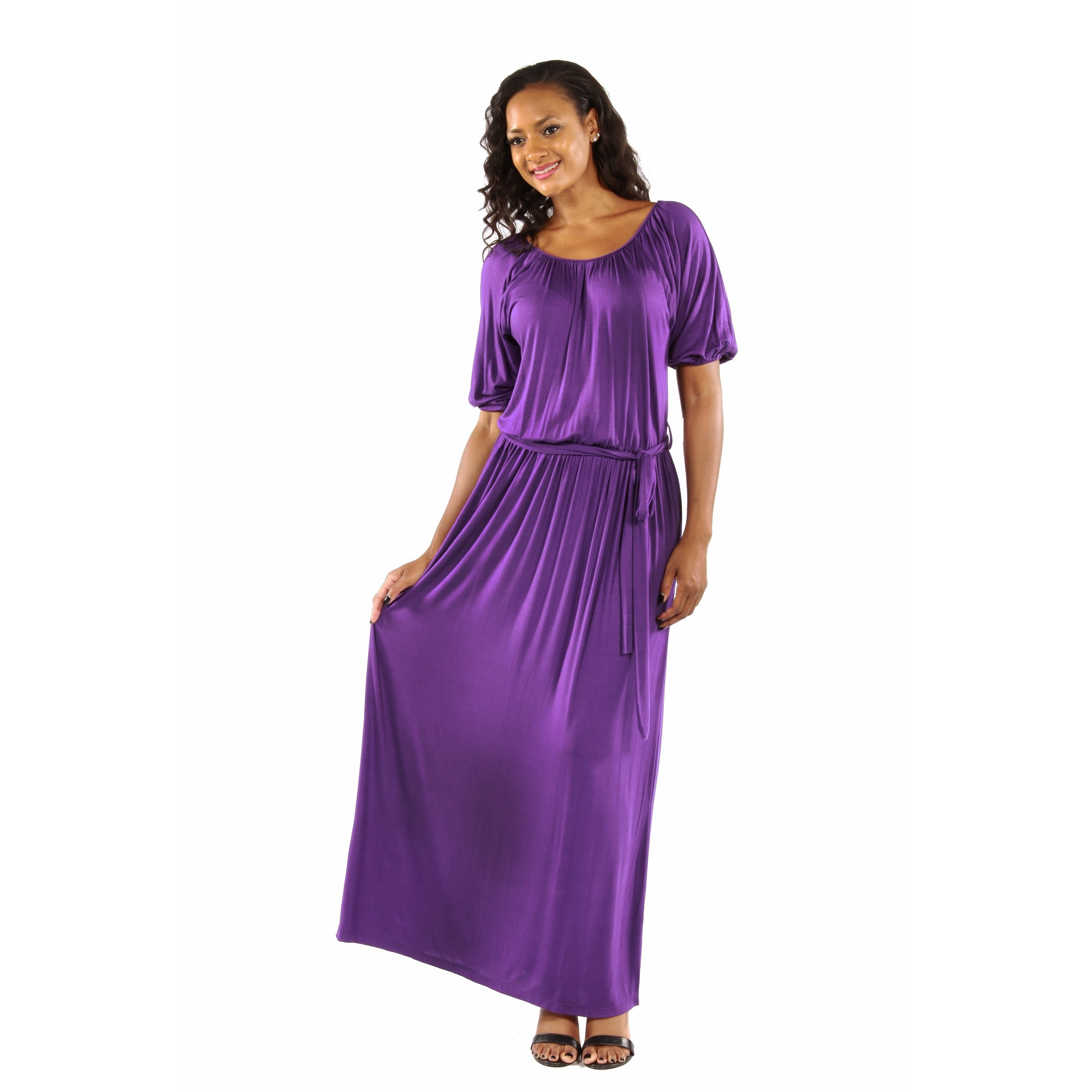 b24317aa7e603 Shop 24/7 Comfort Apparel Women's Feminine, Sexy Maxi Dress for Day and  Night - Free Shipping On Orders Over $45 - Overstock - 12834064