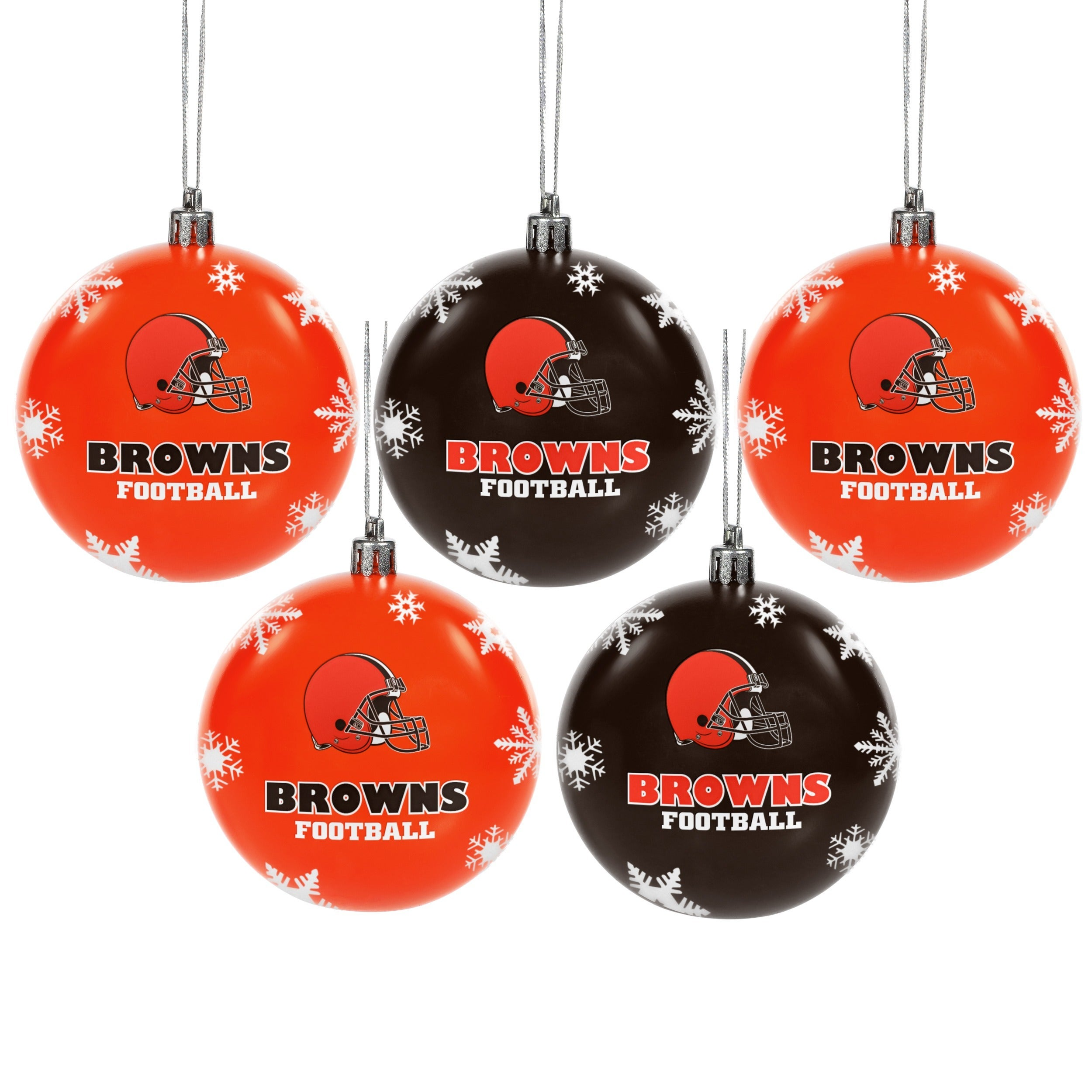 Cleveland Browns NFL 5 Shatterproof Ball Ornaments - Free Shipping ...