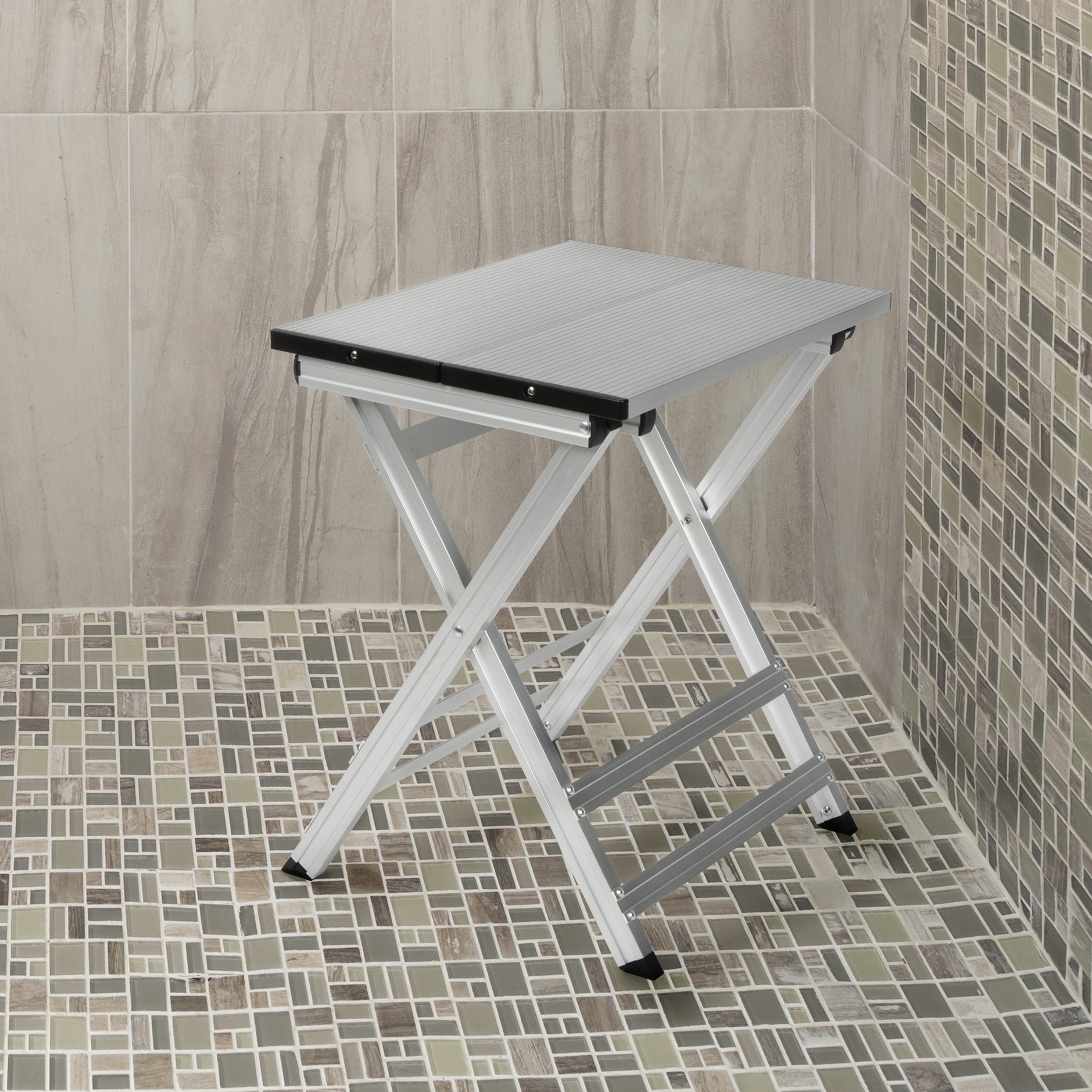 stool furniture feet hudson archie shower products padded with rubber