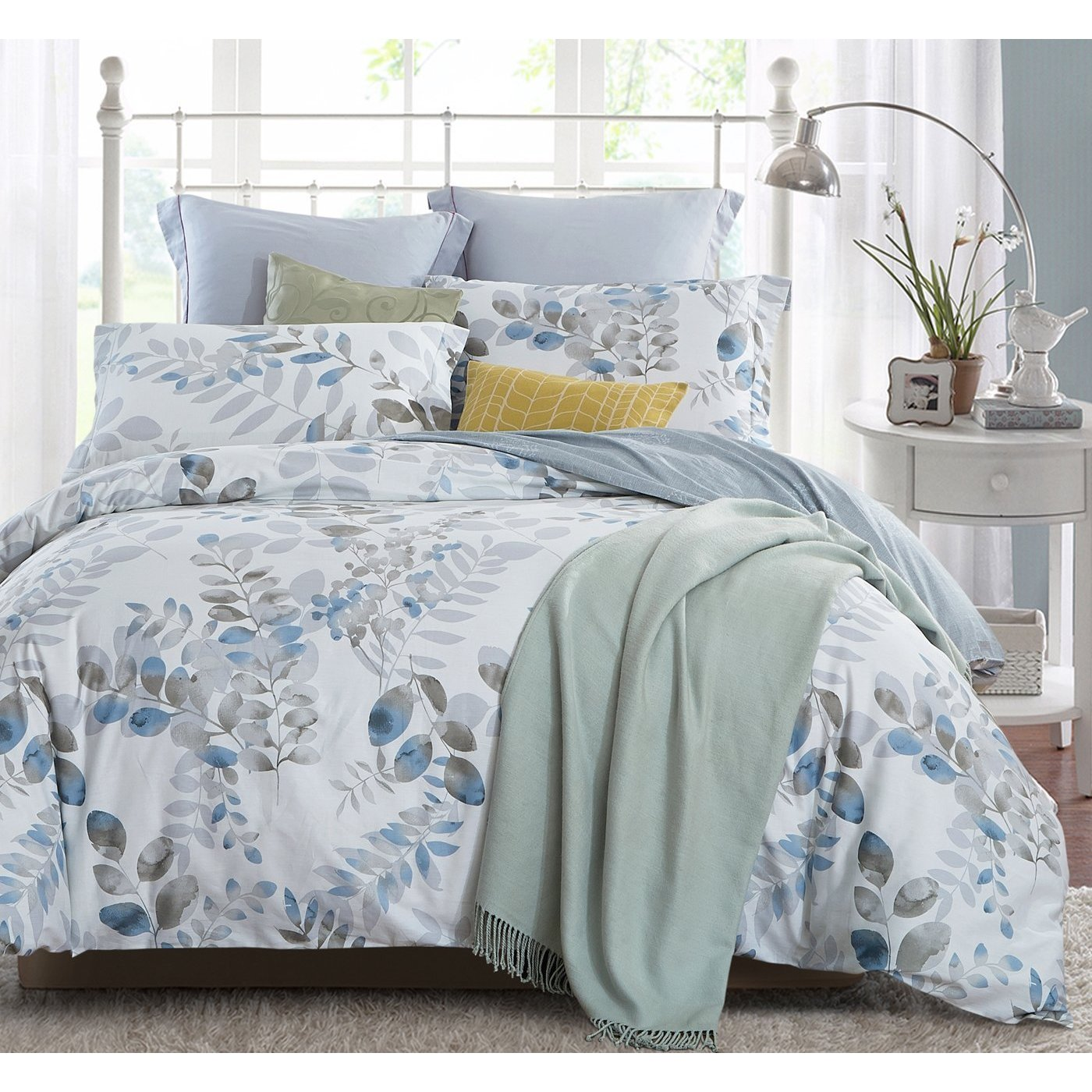 Word Of Dream 3 Piece Cotton Fl Leaves Duvet Cover Set Free Shipping Today 19601206