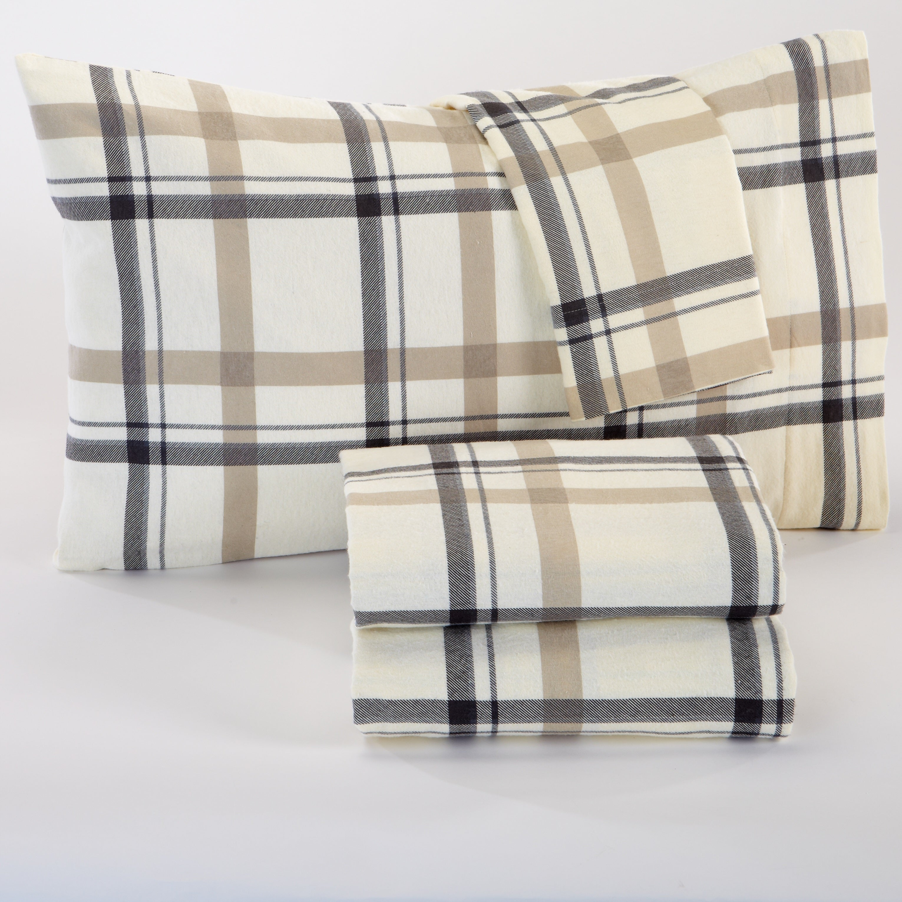 Stratton Collection Super Soft Printed 100% Cotton Flannel Sheet ...