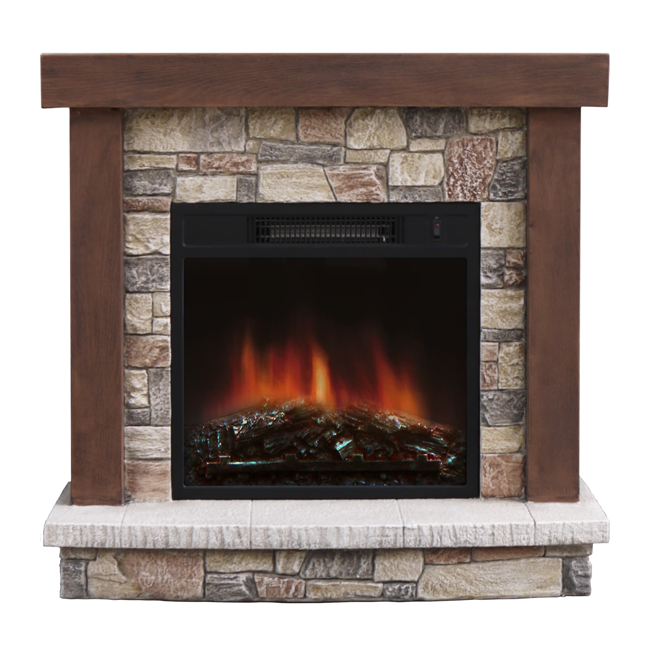 Shop Urban Mountain Lodge Electric Fireplace  Free Shipping Today