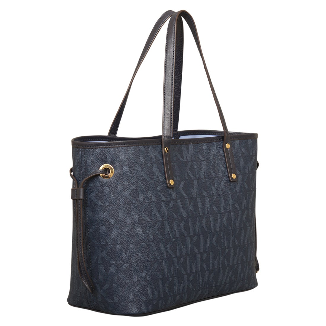 26a38f39ec6a ... purchase shop michael kors medium jet set baltic blue reversible tote  bag free shipping today overstock ...