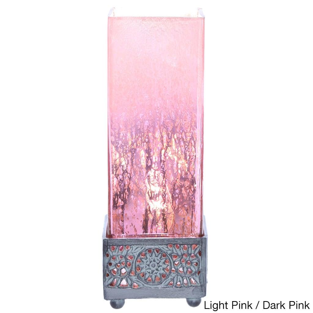 Wonderful Pine Canopy Malheur Mercury Glass 12.9-inch High Square Uplight  HJ23