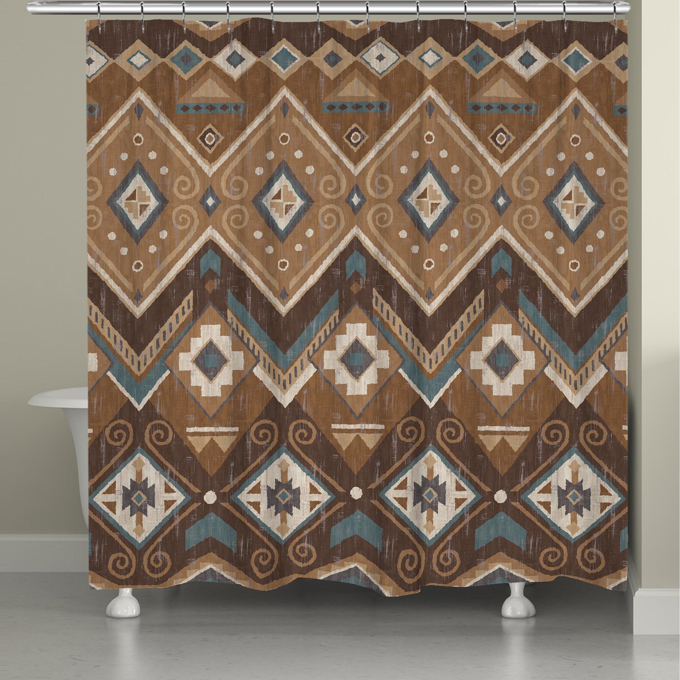 Shop Laural Home Aztec Shower Curtain