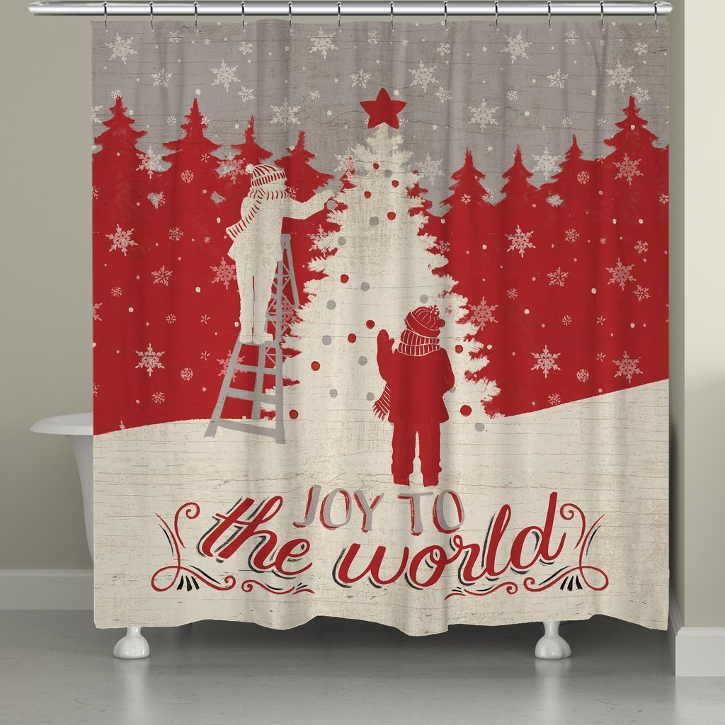 Shop Laural Home Holiday In The Woods Shower Curtain