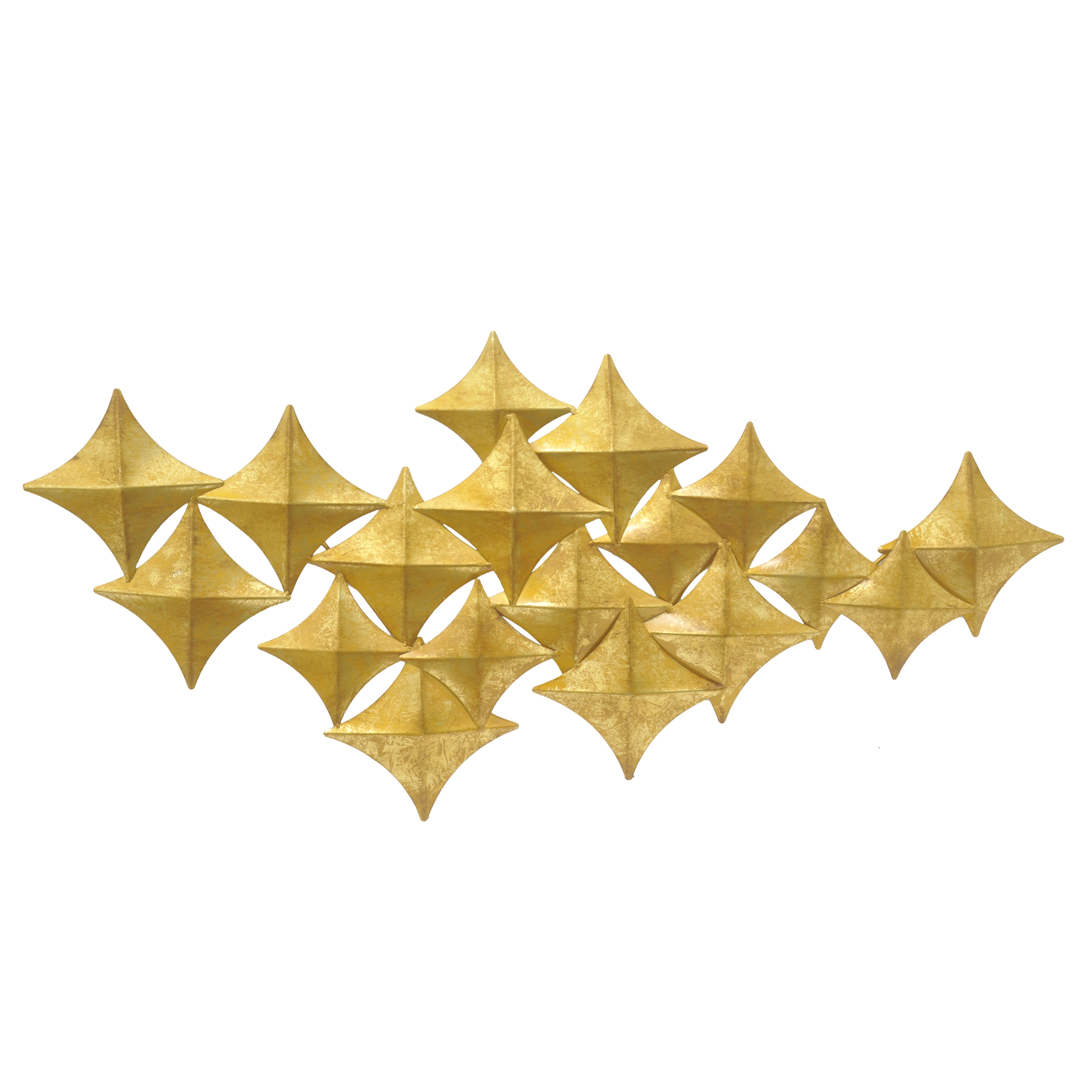 Three Hands Gold Metal Diamond Wall Decoration - Free Shipping Today ...
