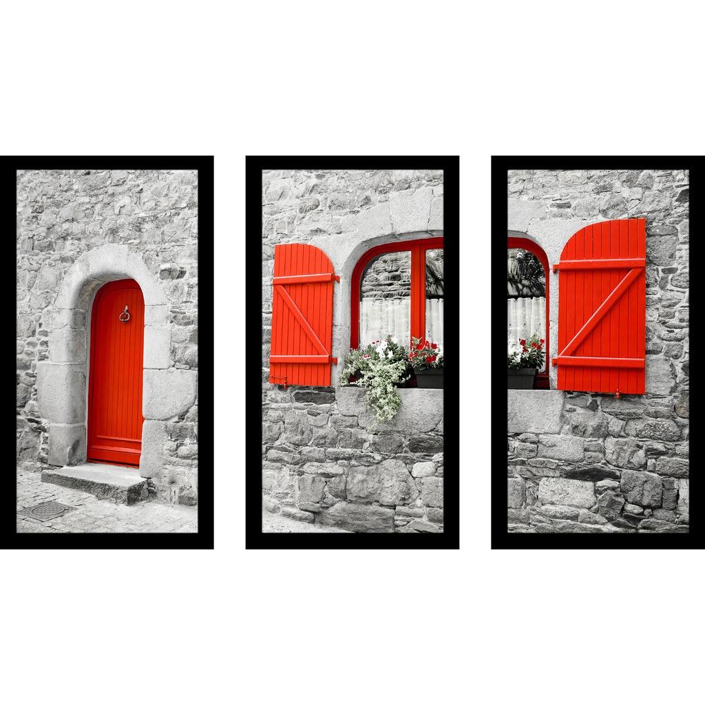 Shop The Red Door Framed Plexiglass Wall Art Set Of 3 On Sale