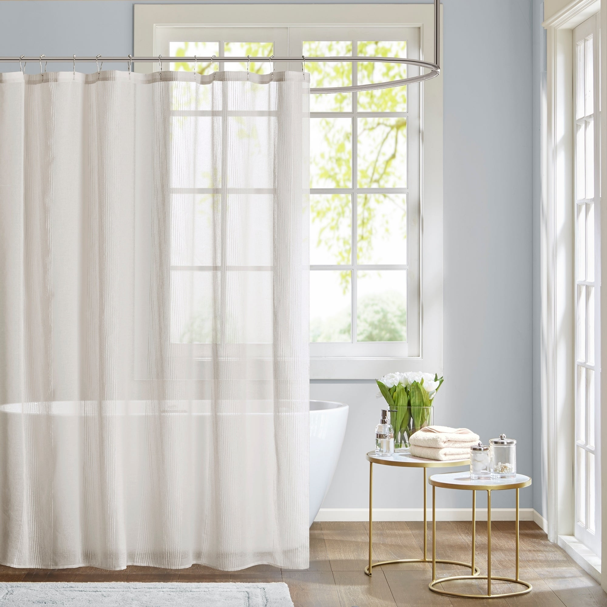 Madison Park Lydia Shower Curtain 3 Color Option  Free Shipping