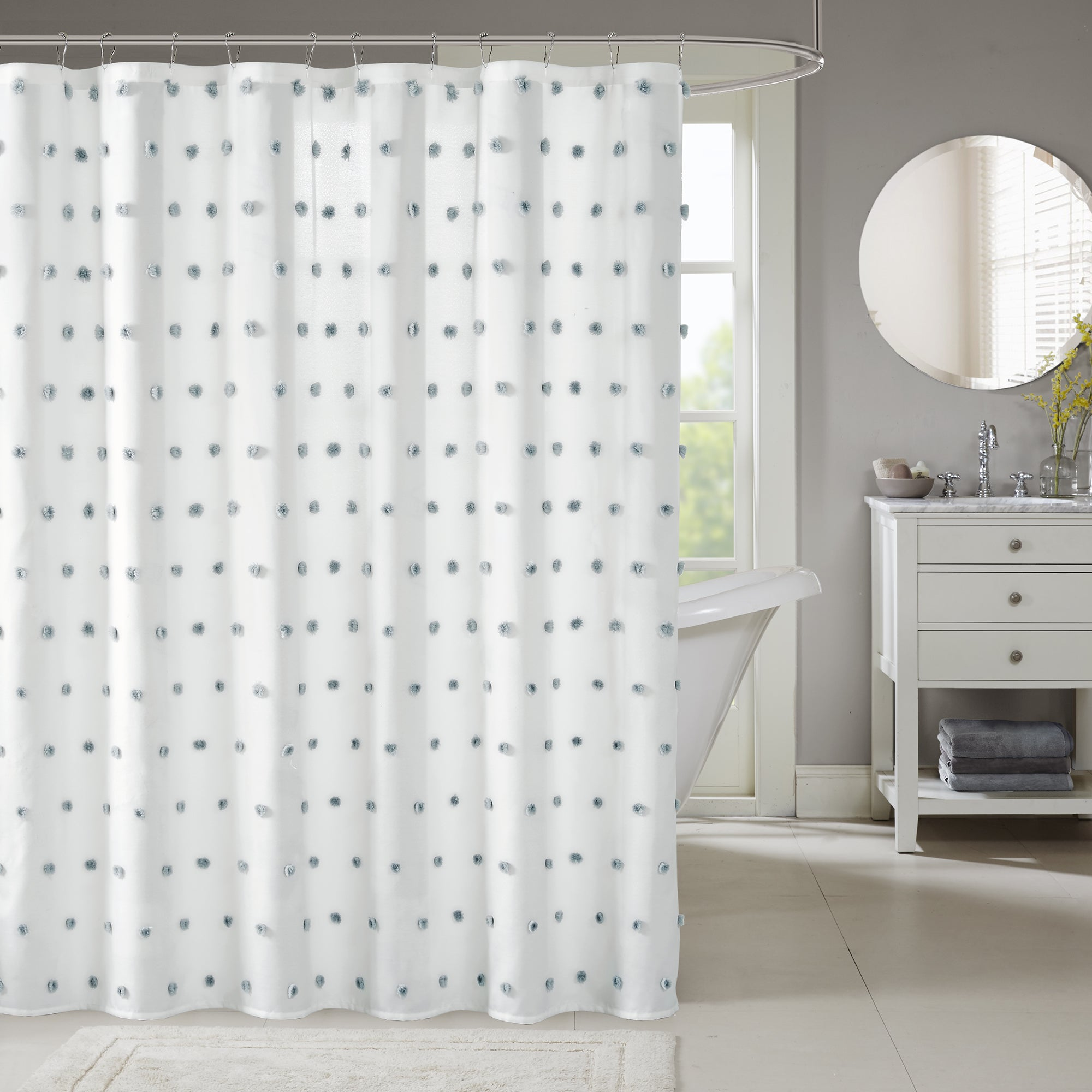 color bath cotton reed park product bedding shower today madison curtain gray option free duck shipping grey overstock