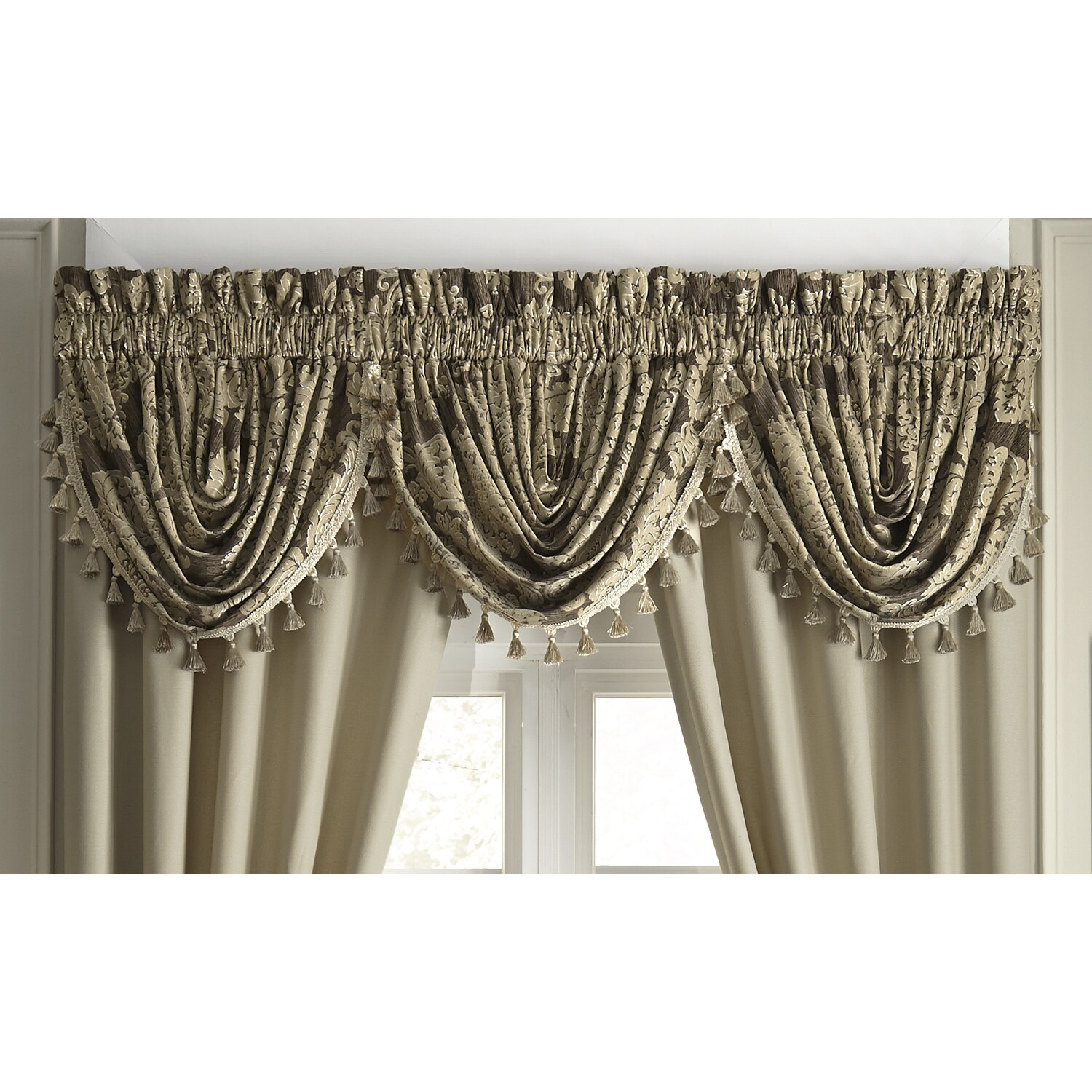 how board step valance hang to waterfall scalloped mount watch youtube your