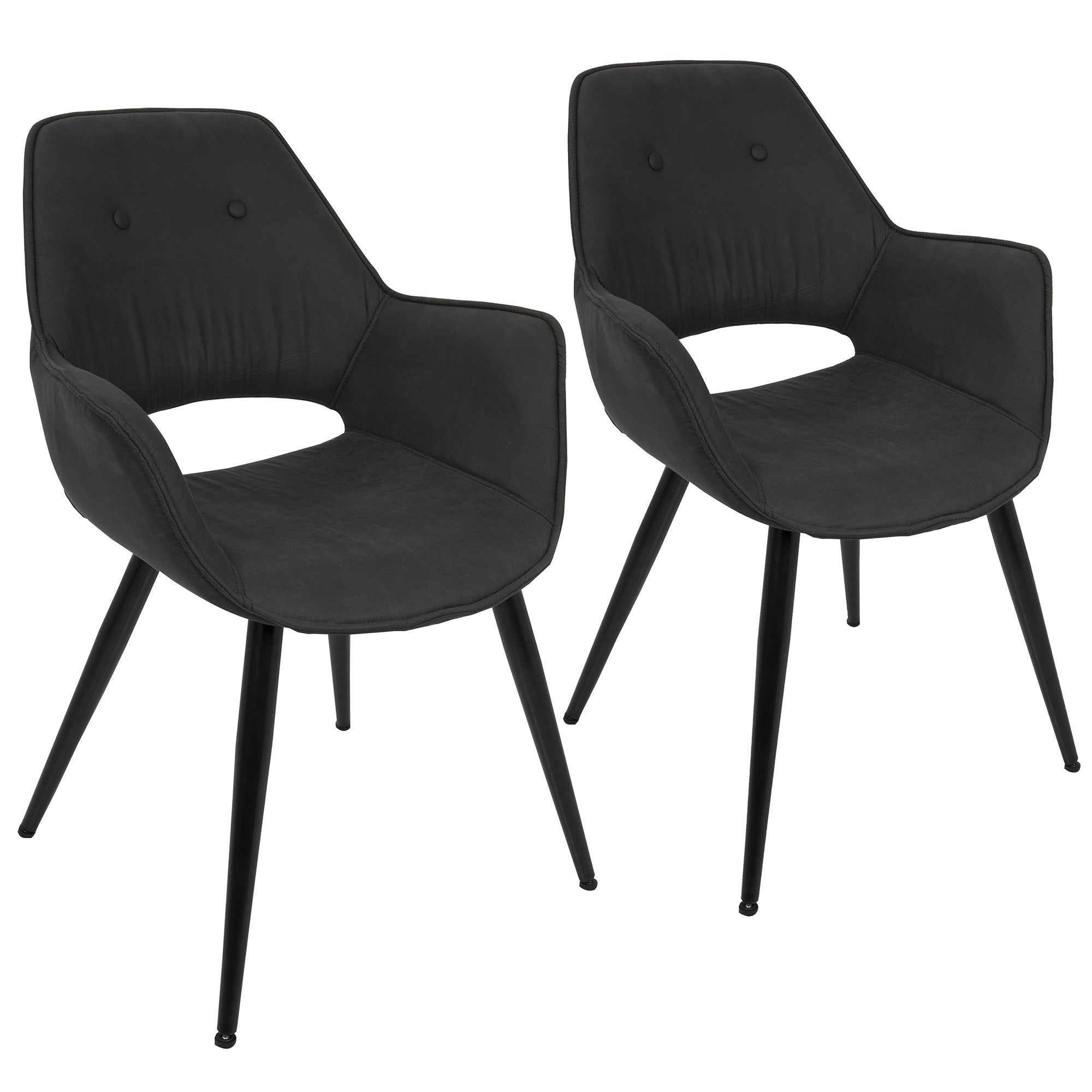 Lumisource mustang contemporary accent chairs set of 2 n a