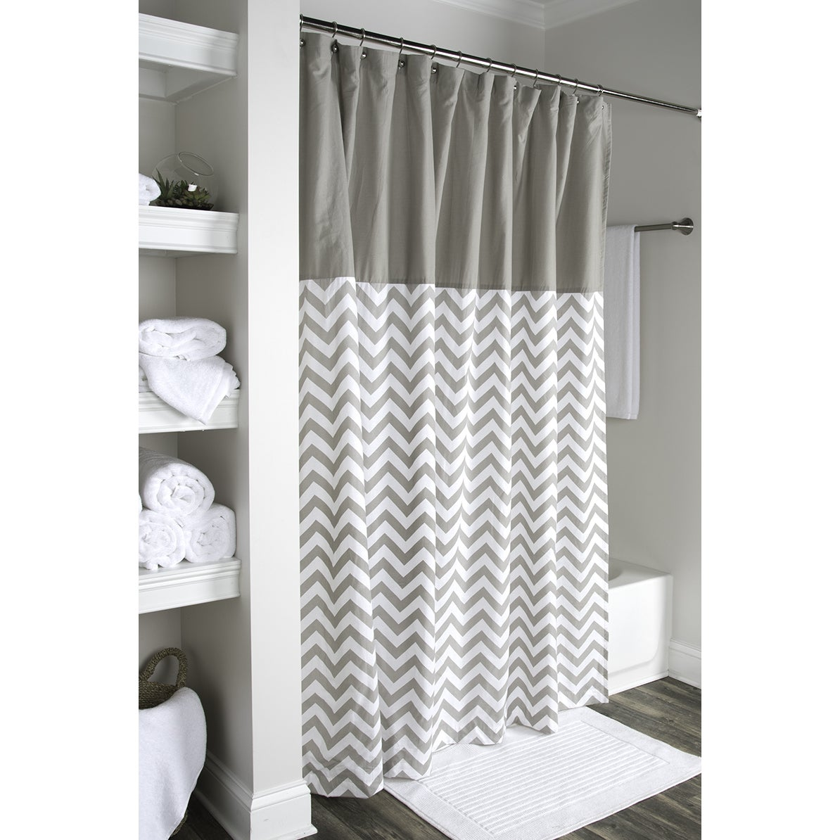 Shop Arden Loft Geometric Grey White 72x72 Shower Curtain - On Sale ...