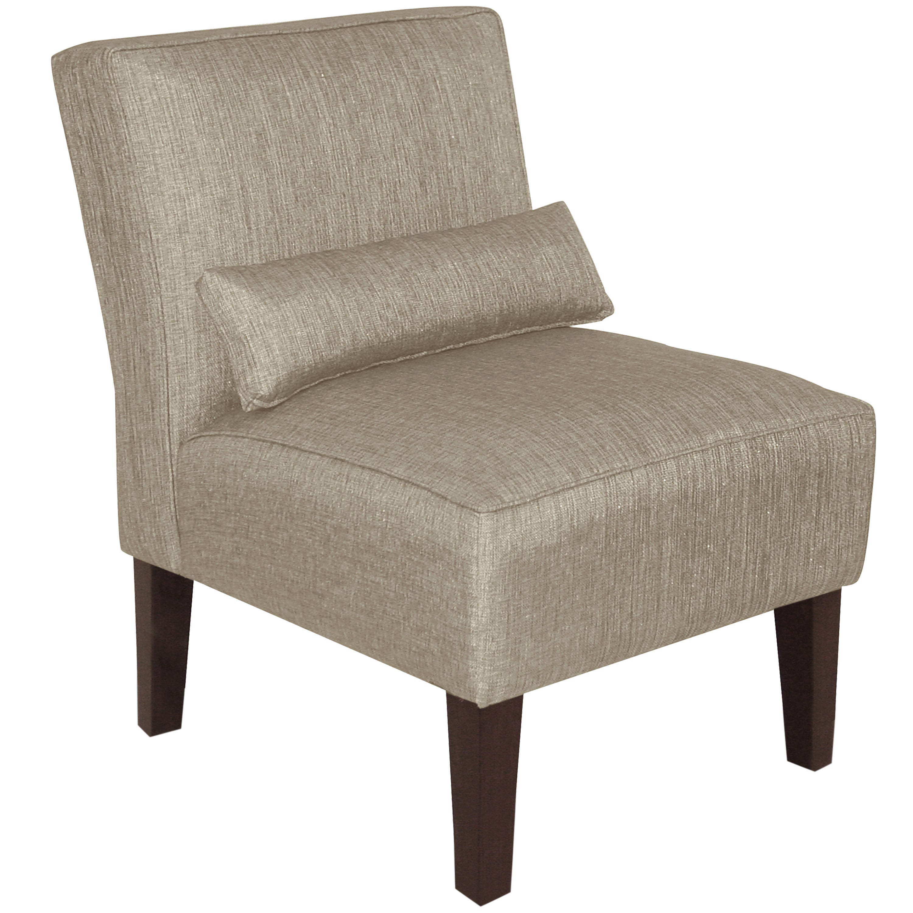Shop skyline furniture groupie pewter polyester viscose armless slipper chair on sale free shipping today overstock com 12853426