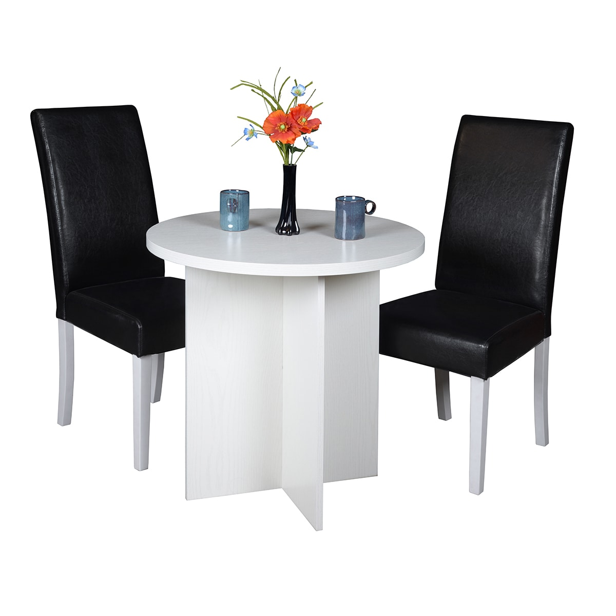 Shop Regency Niche Modern 30-inch Round Table and 2 Tyler Dining ...