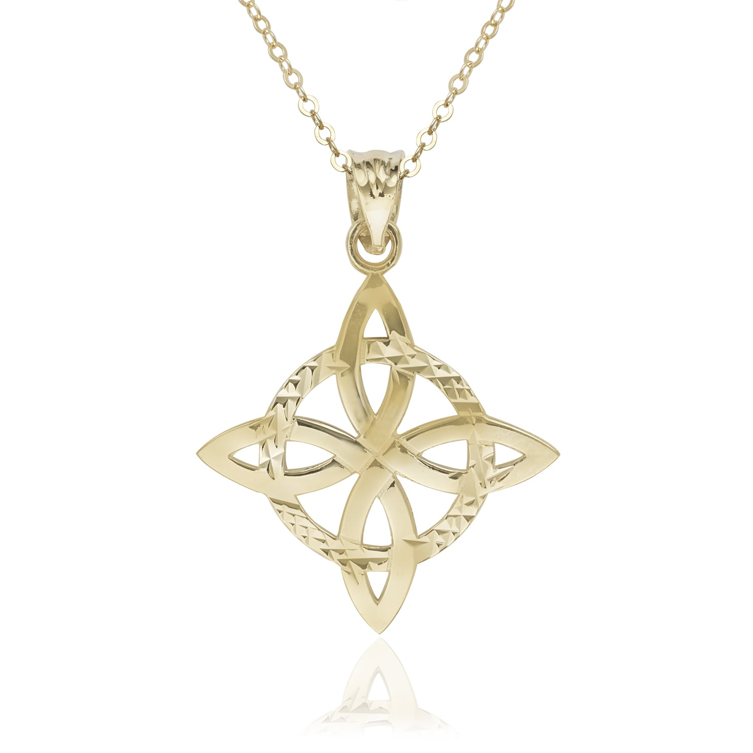 knot gold set silver pendant trinity sterling diamond product eu