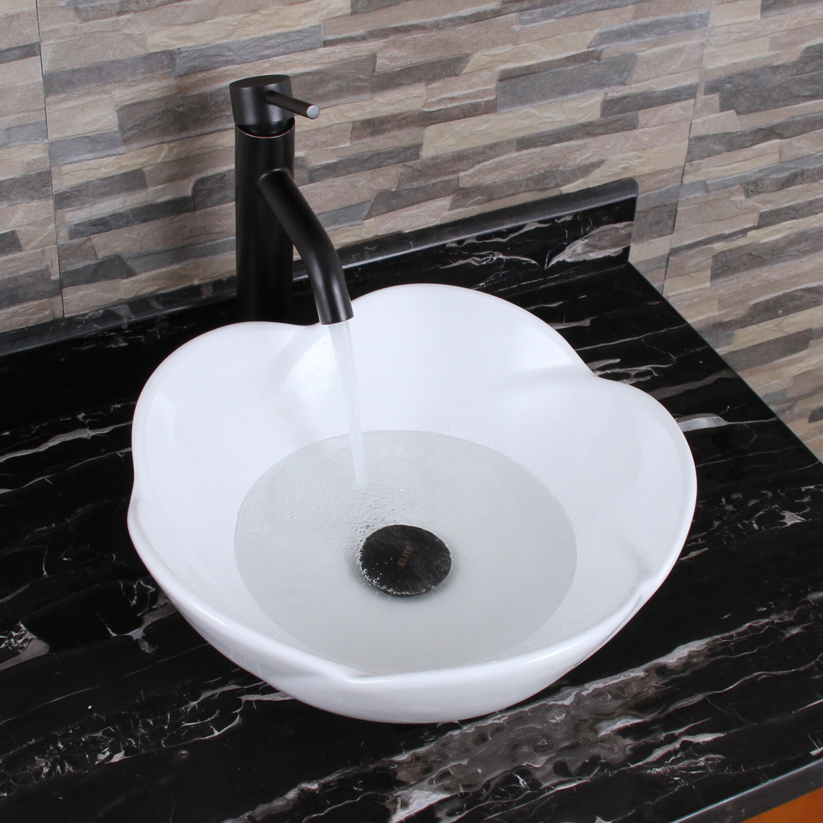 Shop ELIMAX\'S 301+F371023 Lotus Round Shape White Porcelain Ceramic ...