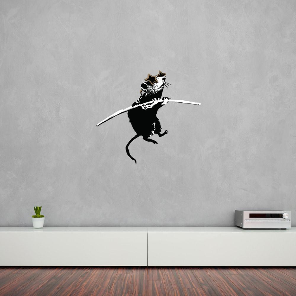 Acrobat Rat With Shades Banksy Vinyl Wall Decal Sticker Mural Art