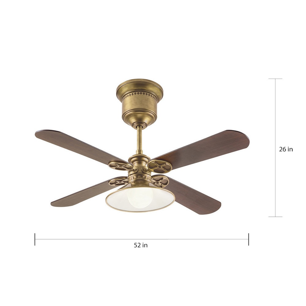 Kichler Lighting Transitional Natural Brass 52 Inch Ceiling Fan With Light  And Reversible Fan Blades   Free Shipping Today   Overstock   19624276