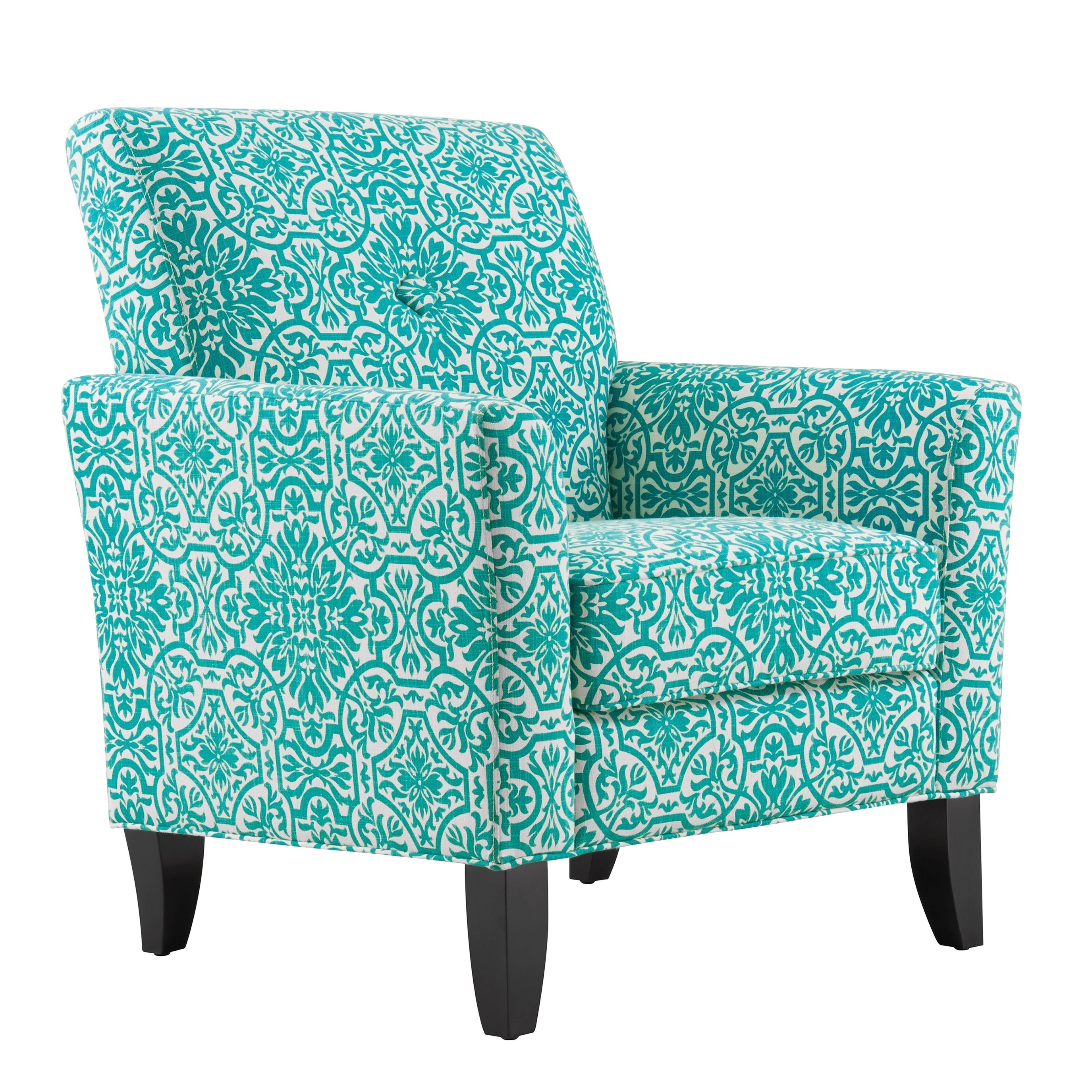Attirant Shop Handy Living Alex Turquoise Damask Arm Chair   On Sale   Free Shipping  Today   Overstock.com   12863436
