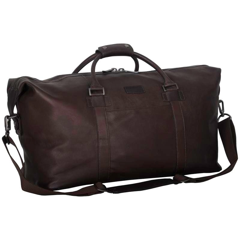 2b80f22b635ef5 Kenneth Cole Reaction Colombian Leather 20in Single Compartment Carry-On Travel  Duffel Bag
