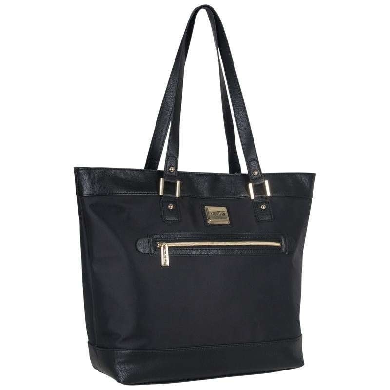 7c52047a531a Shop Kenneth Cole Reaction Women s Nylon Top Zip 16-inch Laptop Business  Tote Bag with Gold Plated Hardware - Free Shipping Today - Overstock -  12863811
