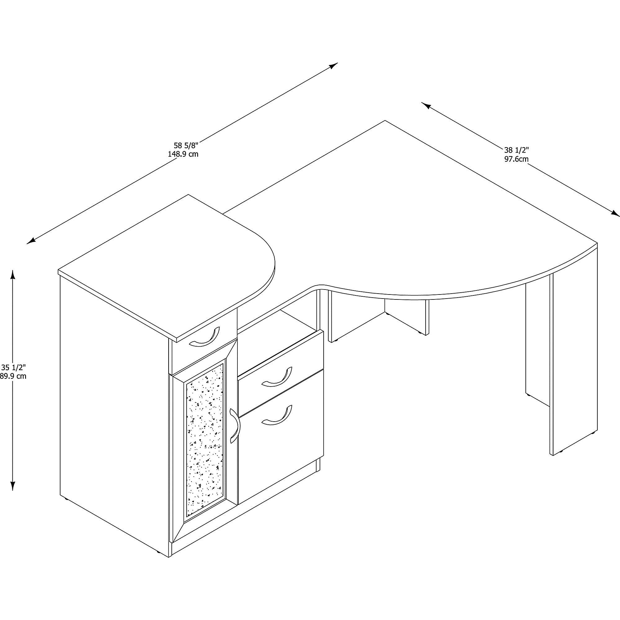 Beautiful Shop Bush Furniture Vantage Corner Desk In Classic Black   Free Shipping  Today   Overstock.com   12864034