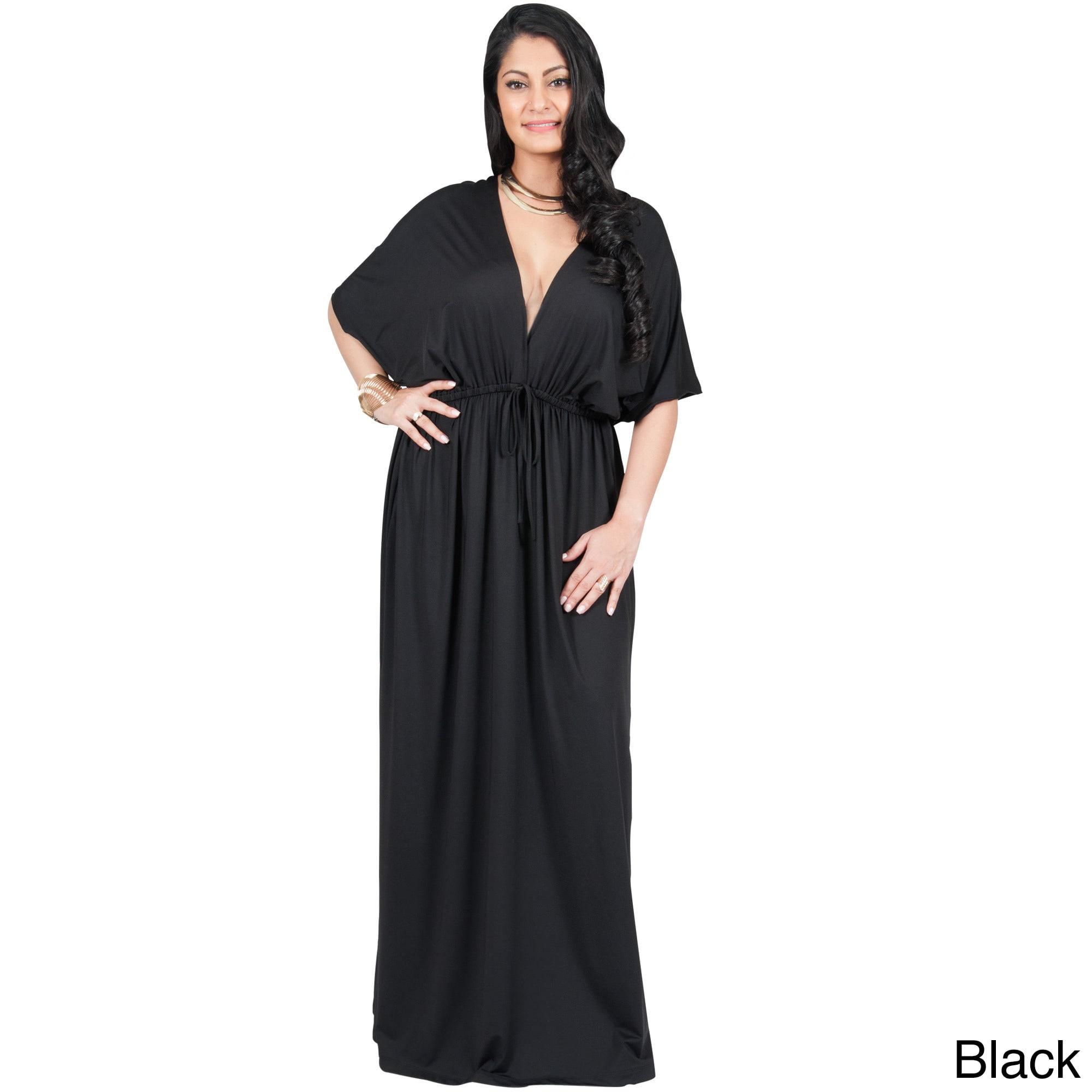 Shop Adelyn & Vivian Women\'s Plus-size Long V-neck Short-sleeve ...