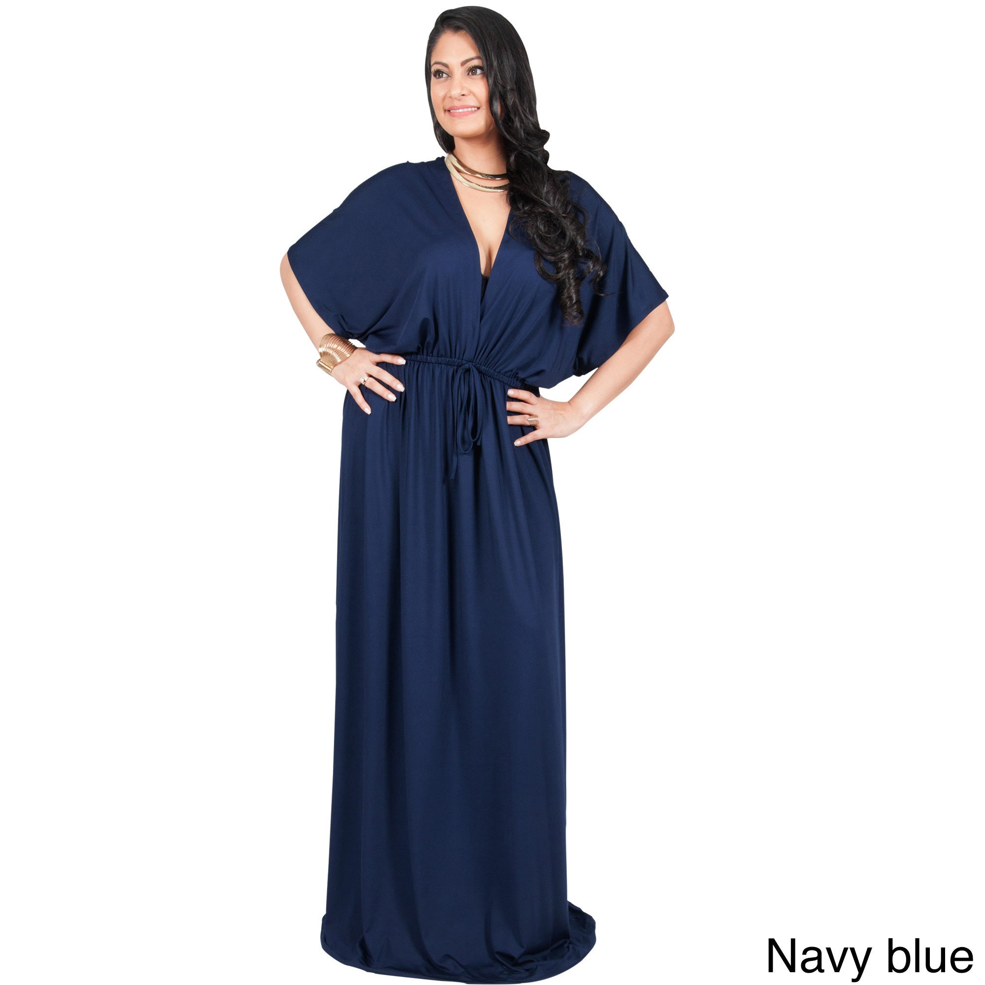 Adelyn Vivian Womens Plus Size Long Sleeve Winter Formal Gown