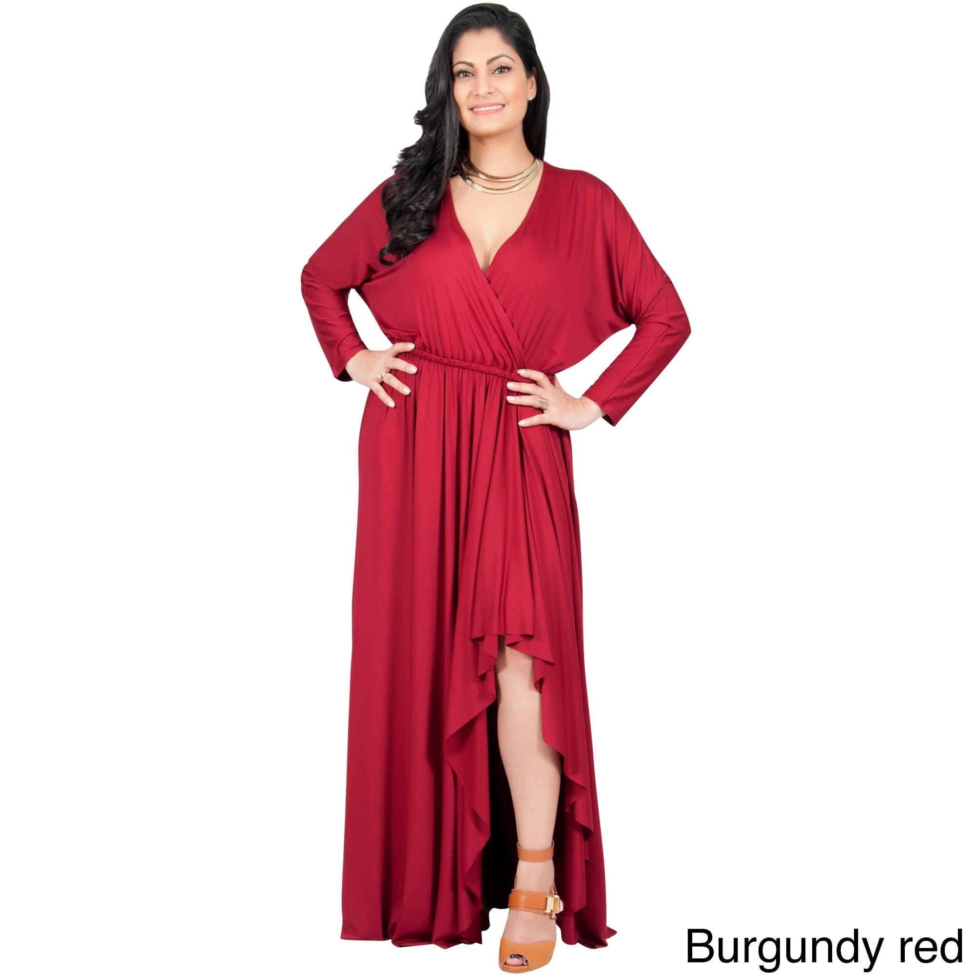 Adelyn & Vivian Women\'s Plus-size Long Sleeve Winter Formal Gown ...