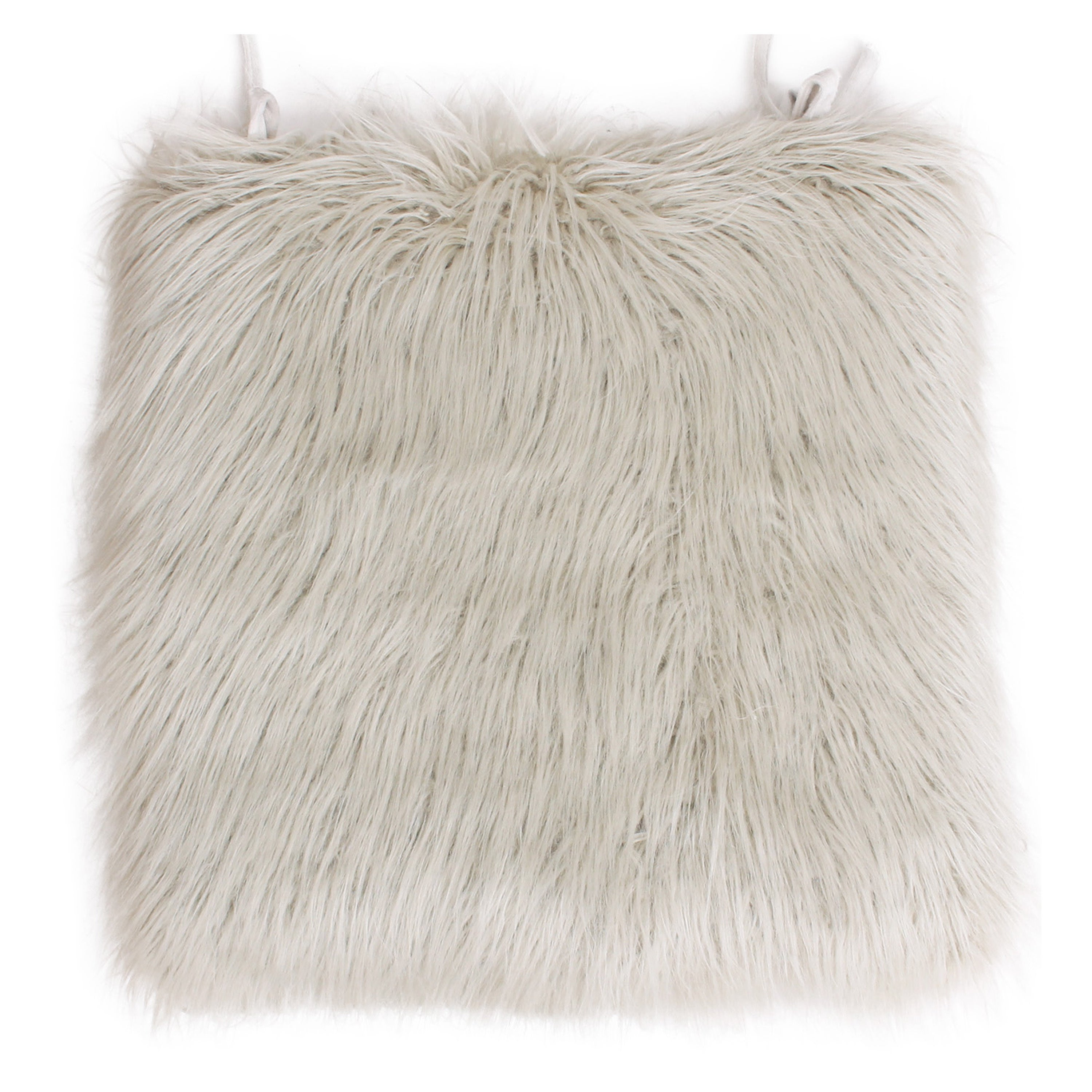 Bon Shop Thro By Marlo Lorenz Keller Faux Mongolian Fur Seat Cushion   Free  Shipping On Orders Over $45   Overstock.com   12875493