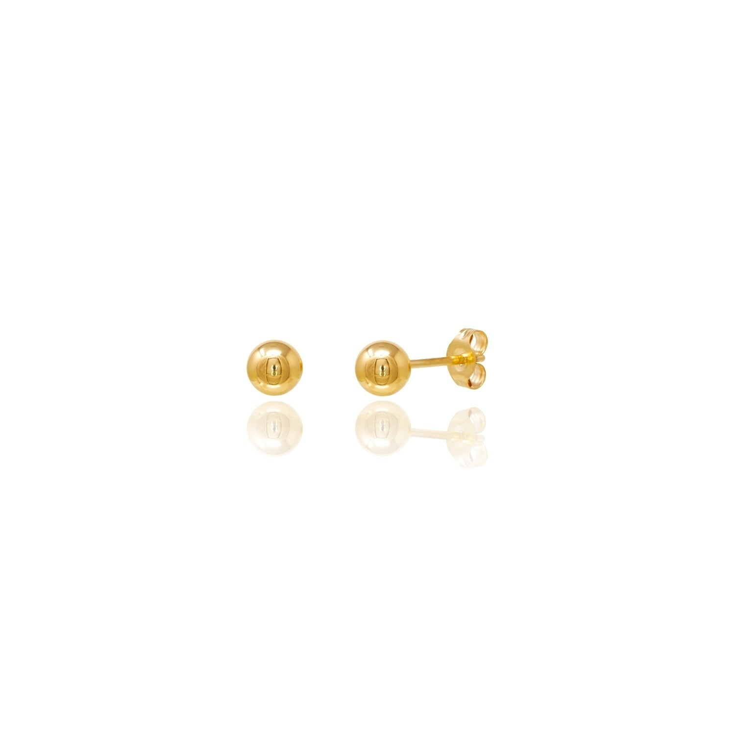 b366801a6 Shop 14kt Yellow Gold Ball Stud Earrings - Free Shipping On Orders Over $45  - Overstock - 12875928