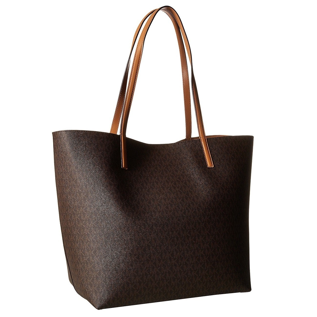 8935fae94e9f Shop Michael Kors Hayley Brown/ Peanut Large Logo Tote Bag - Free Shipping  Today - Overstock - 12876179