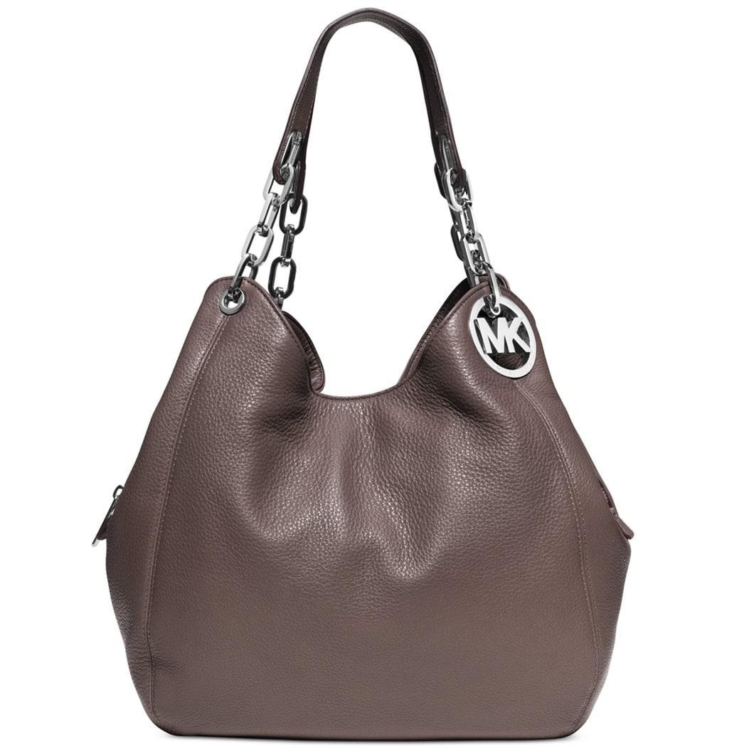 a0fb5dcbbf47 ... logo shoulder bag vanilla fd193 dbe9c promo code for shop michael kors  fulton large cinder leather shoulder handbag free shipping today overstock  ...
