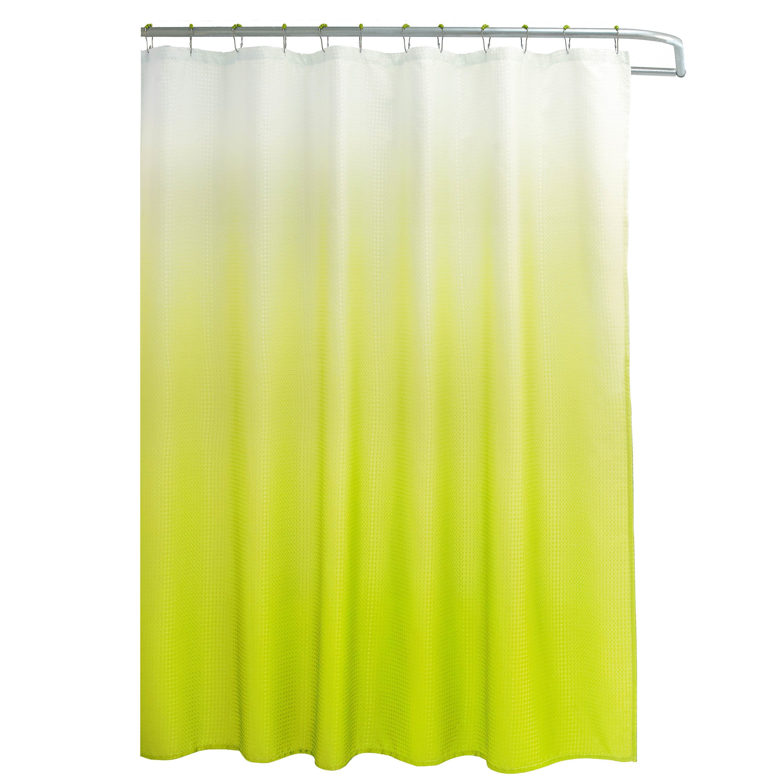 1cd9c05f7c4 Shop Creative Home Ideas Ombre Waffle Weave Shower Curtain w  12 Color  Coordinating Metal Rings - Free Shipping On Orders Over  45 - Overstock -  12876374
