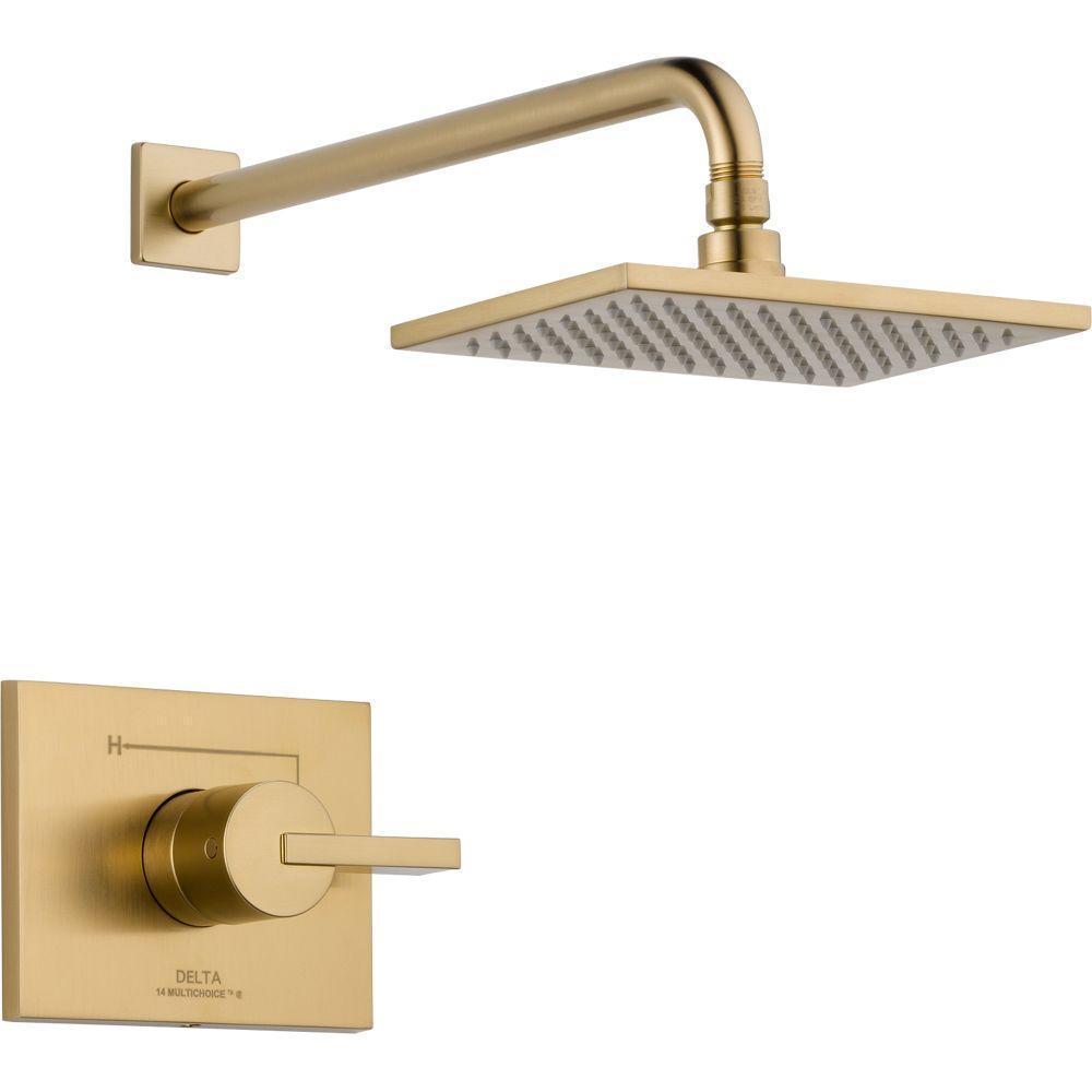 Shop Delta Vero 1-Handle 1-Spray Raincan Shower Faucet Trim Kit in ...