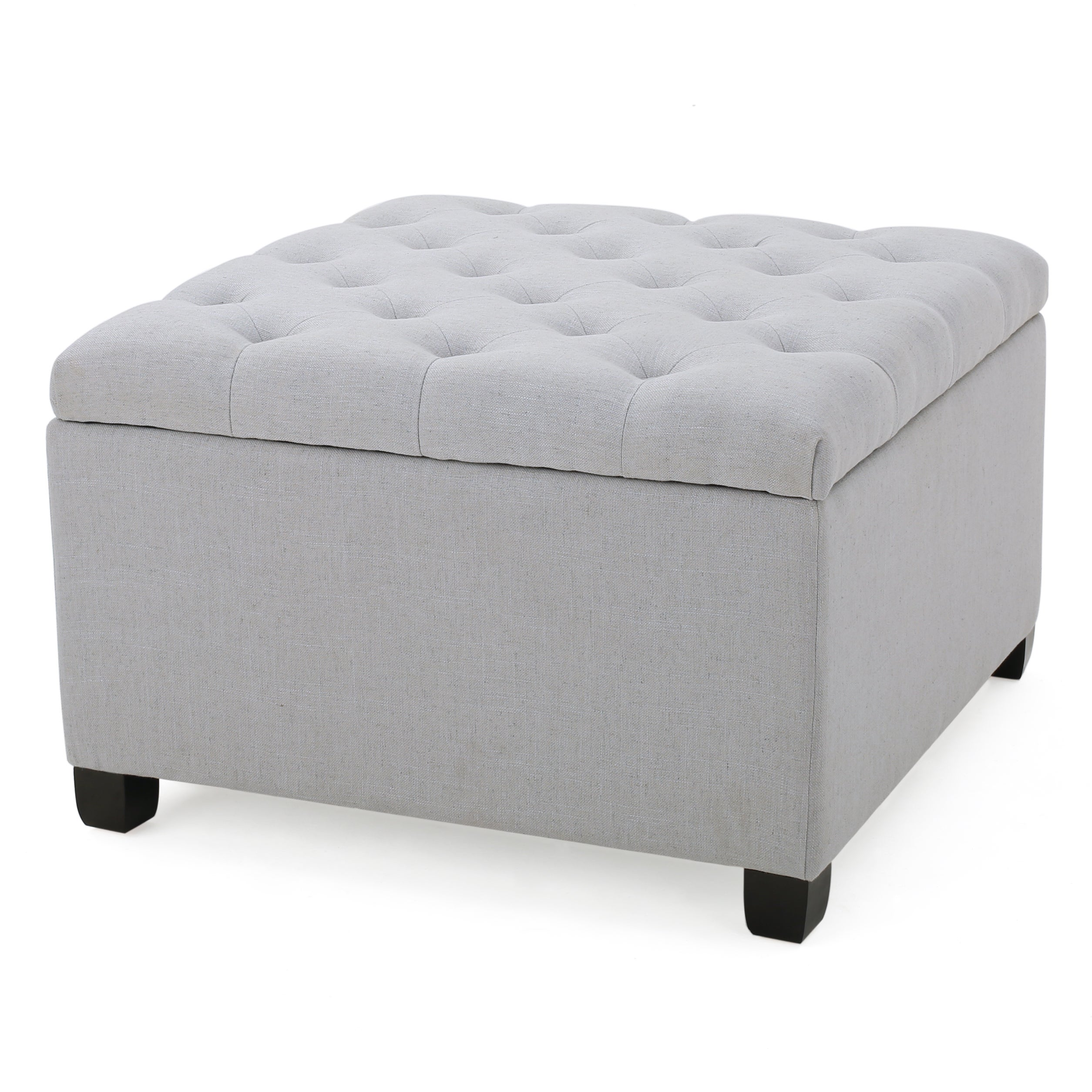 Shop Kane Tufted Button Storage Ottoman by Christopher Knight Home - Free Shipping Today - Overstock.com - 12882214  sc 1 st  Overstock.com & Shop Kane Tufted Button Storage Ottoman by Christopher Knight Home ...