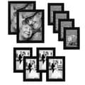 10-piece Multi Pack Black Picture Frame Value Set with Frames for Four 4 x 6-inch, Four 5 x 7-Inch, and Two 8 x 10-inch Photos